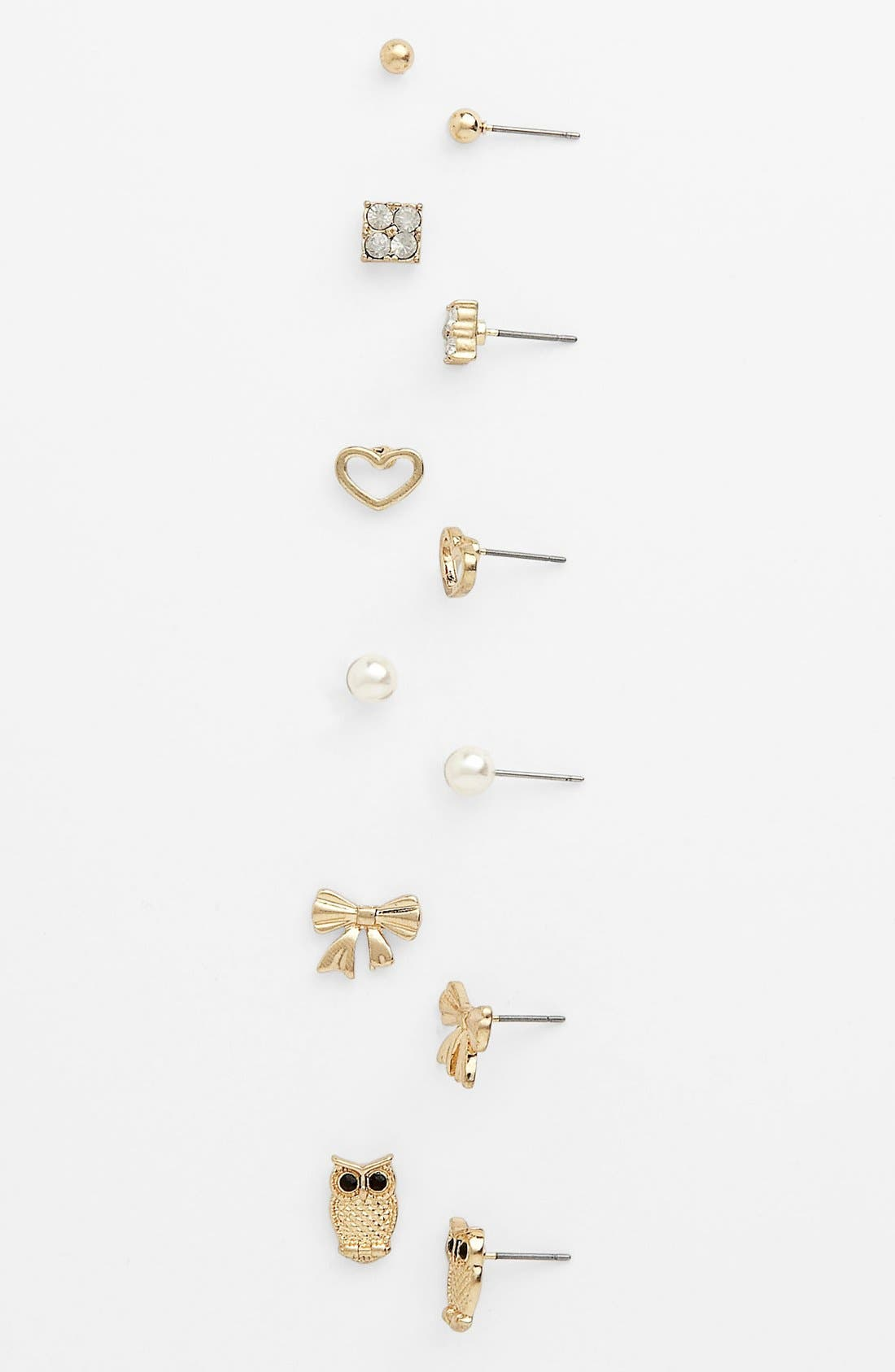 Main Image - Carole Stud Earrings (Set of 6)