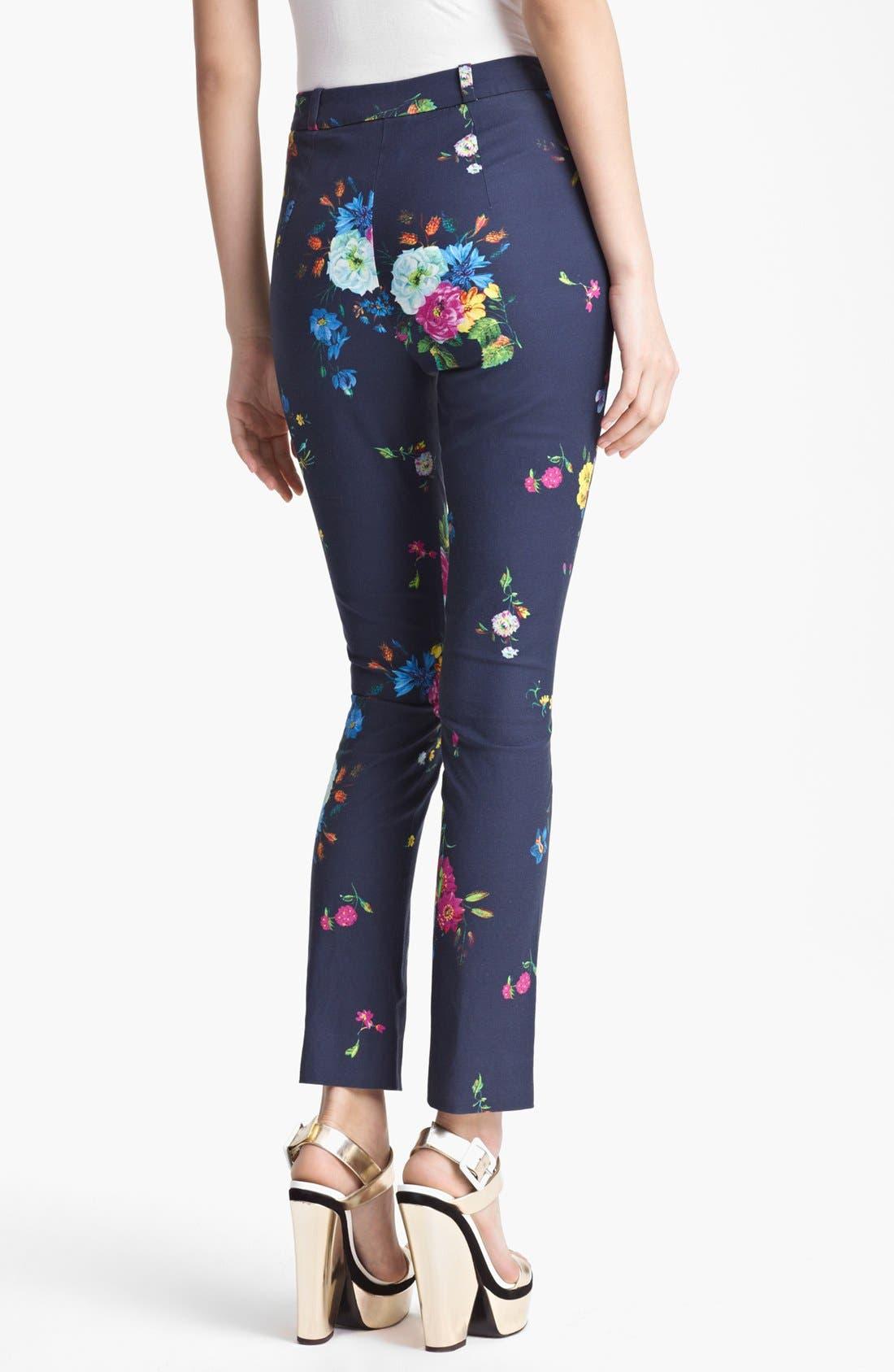 Alternate Image 2  - Erdem 'Dauphine Night' Print Slim Trousers