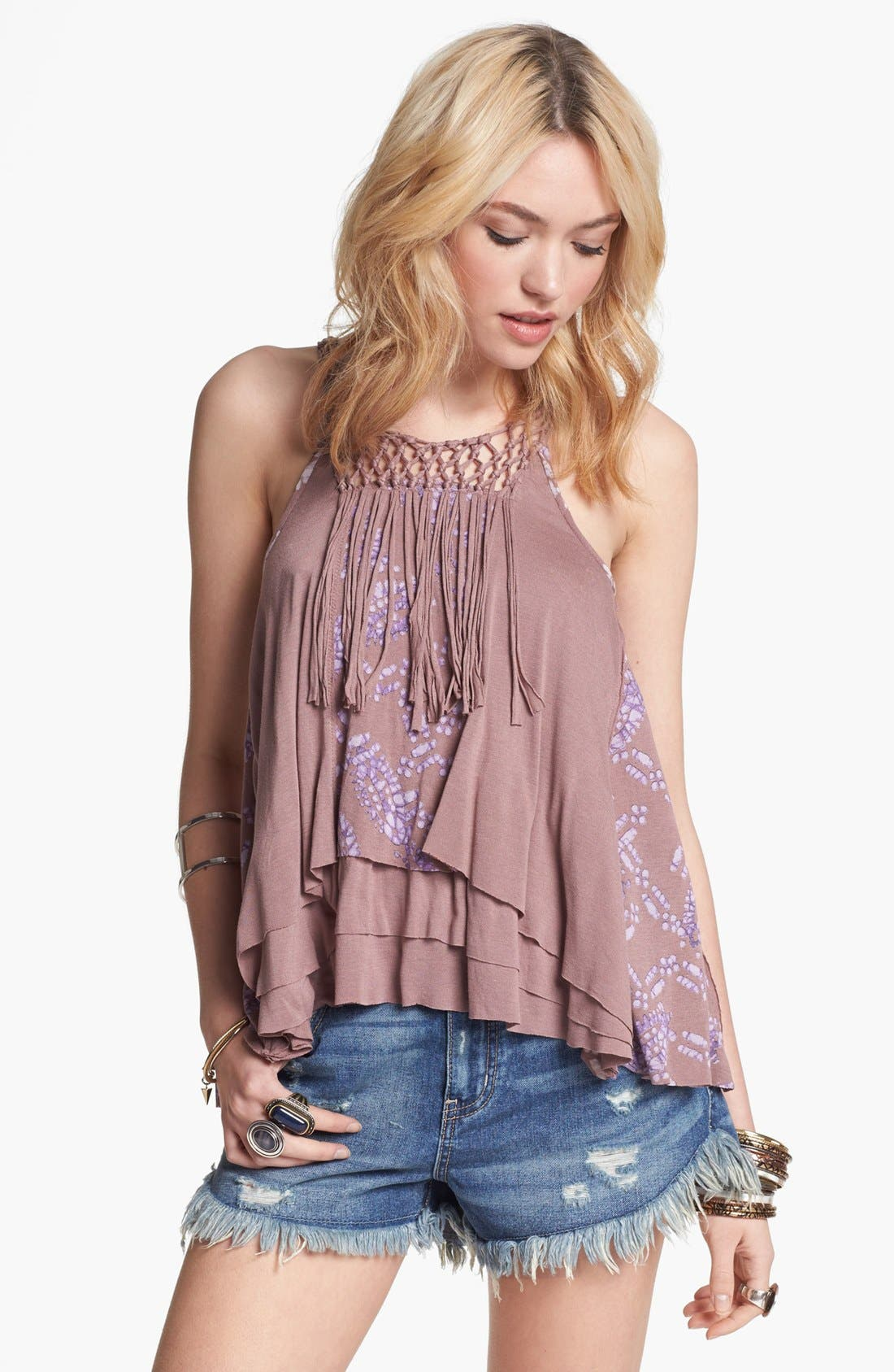 Alternate Image 1 Selected - Free People 'Tiger Lily' Fringe Tank