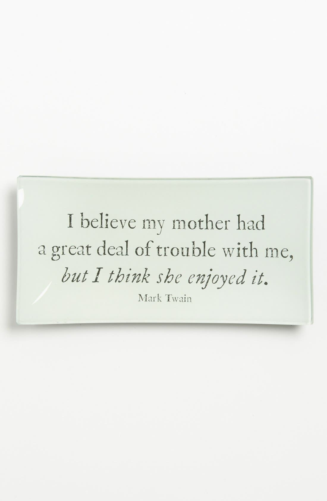 'I Believe My Mother' Trinket Tray,                         Main,                         color, Ivory