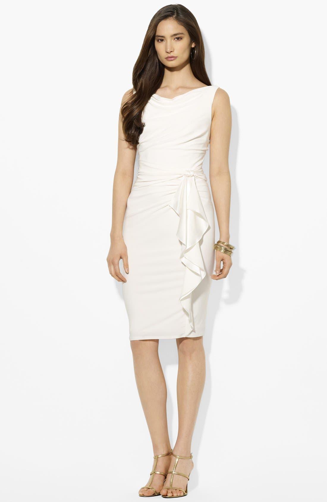 Main Image - Lauren Ralph Lauren Ruffled Matte Jersey Dress