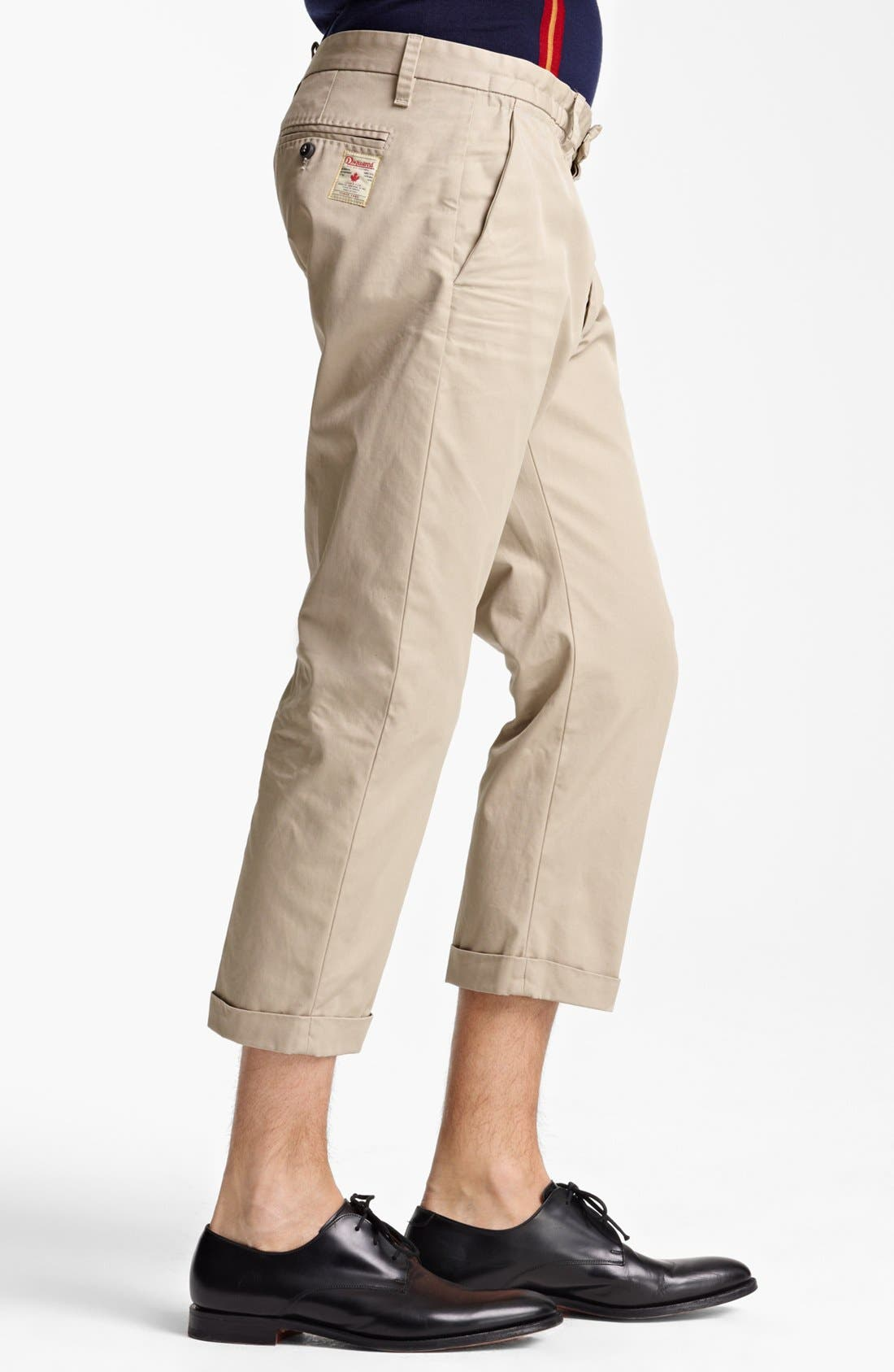 Alternate Image 3  - Dsquared2 'Big Dean's Brother' Cropped Twill Pants