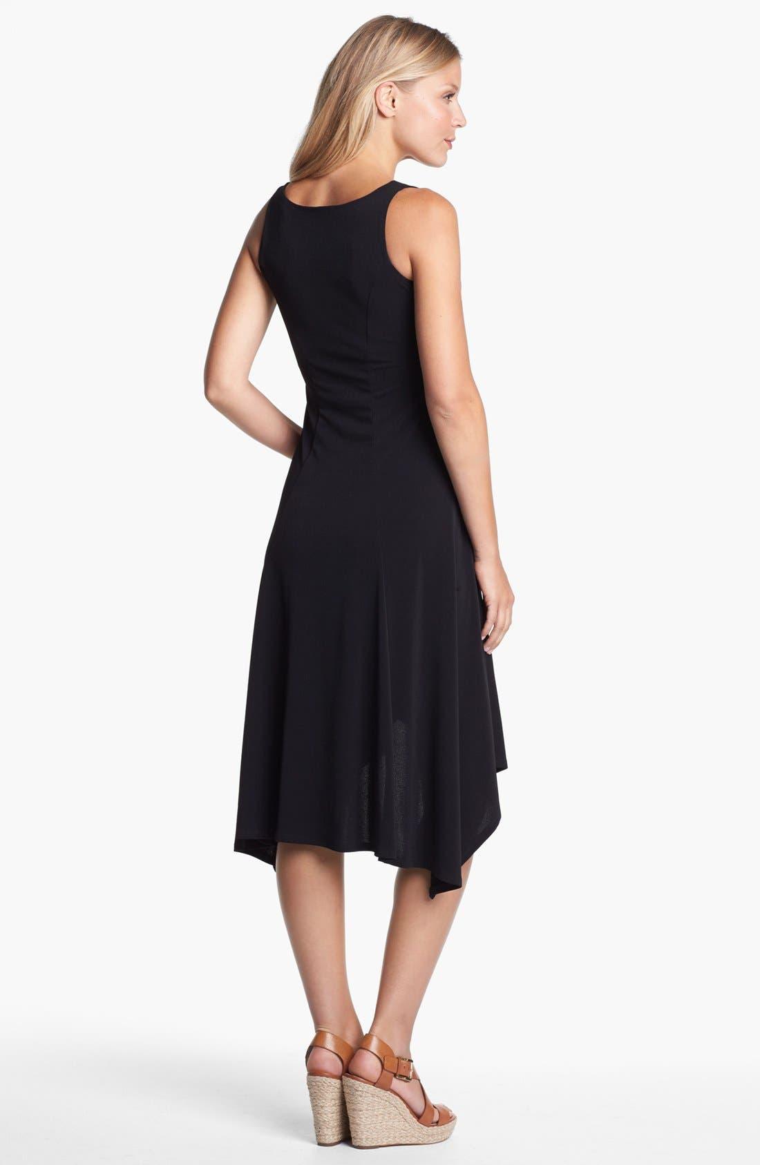 Alternate Image 2  - Karen Kane V-Neck High/Low Dress