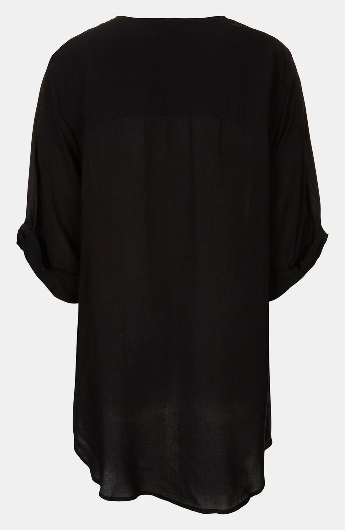 Alternate Image 2  - Topshop Drape Front Maternity Blouse