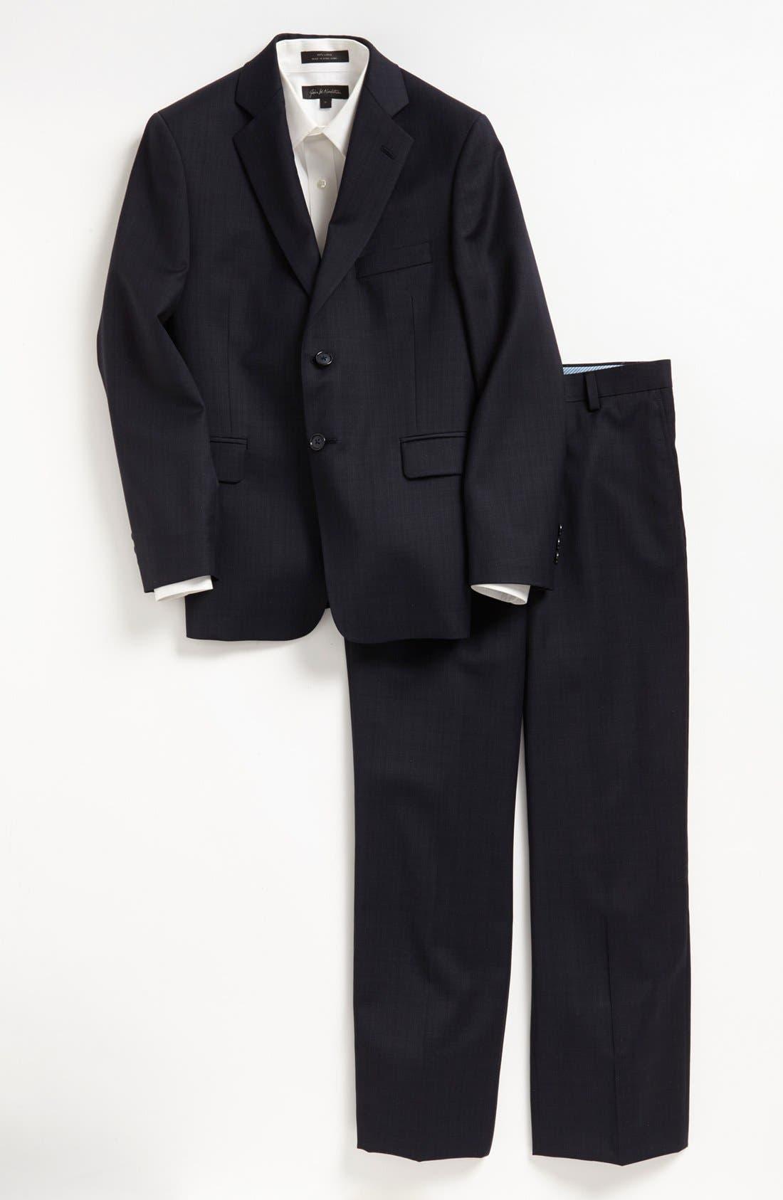 Main Image - Joseph Abboud Wool Suit (Big Boys)