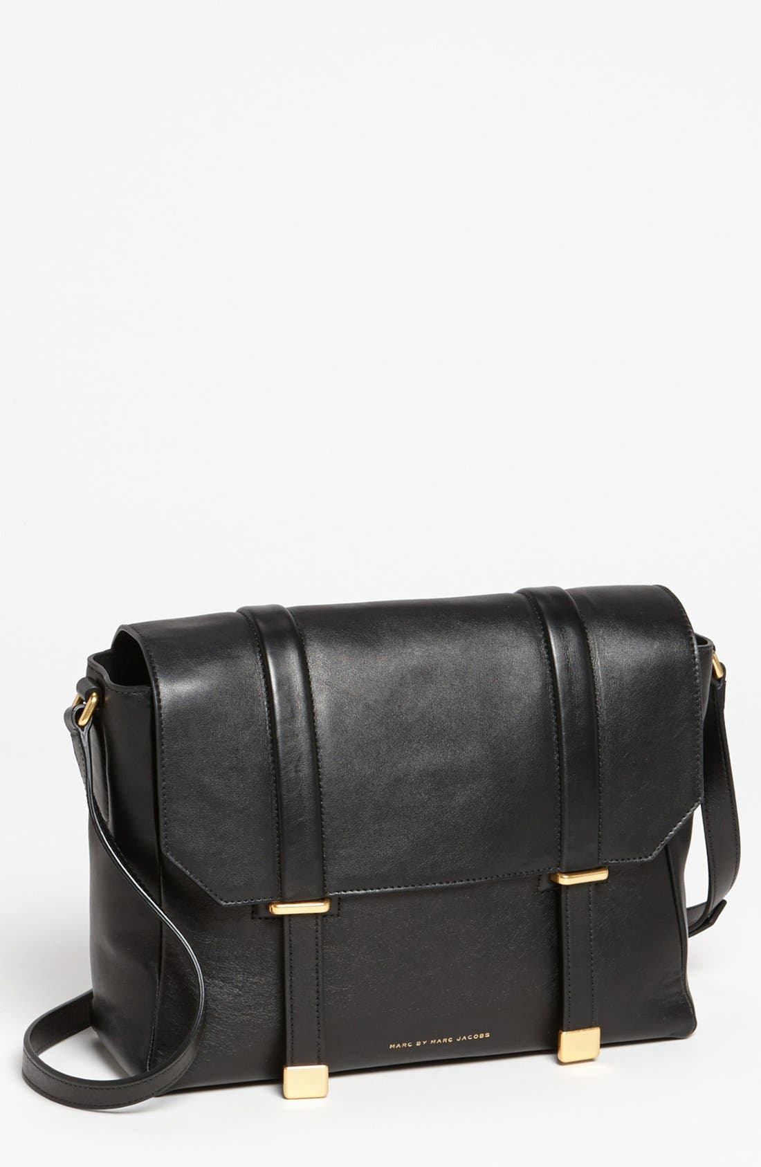 Alternate Image 1 Selected - MARC BY MARC JACOBS 'Natural Selection' Leather Messenger Bag, Medium