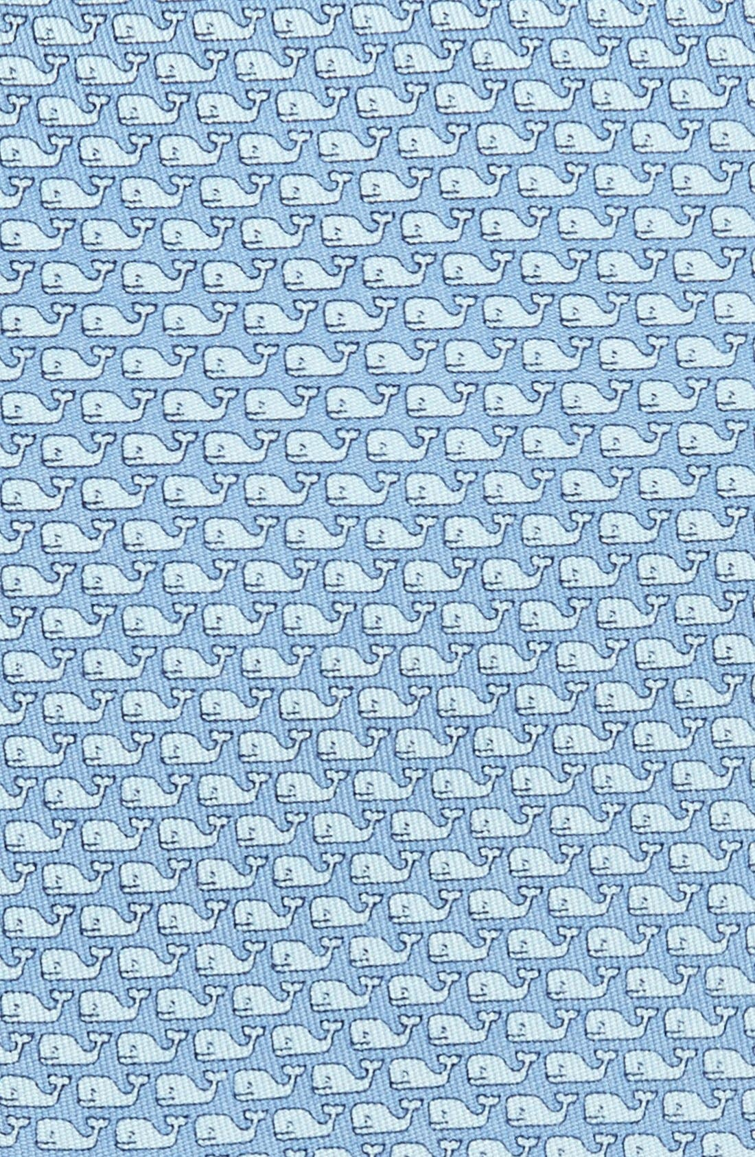 Whale Silk Tie,                             Alternate thumbnail 2, color,                             Blue