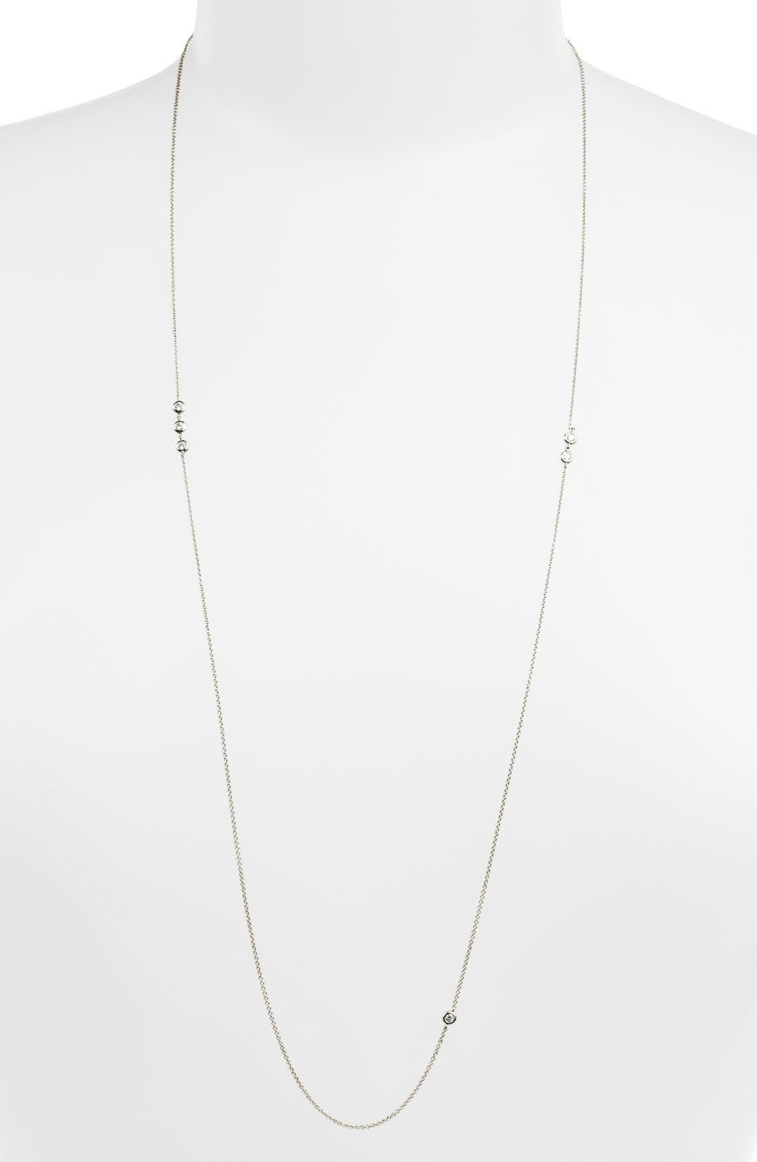 Main Image - Bony Levy 'Diamond by the Inch' Long Necklace (Nordstrom Exclusive)