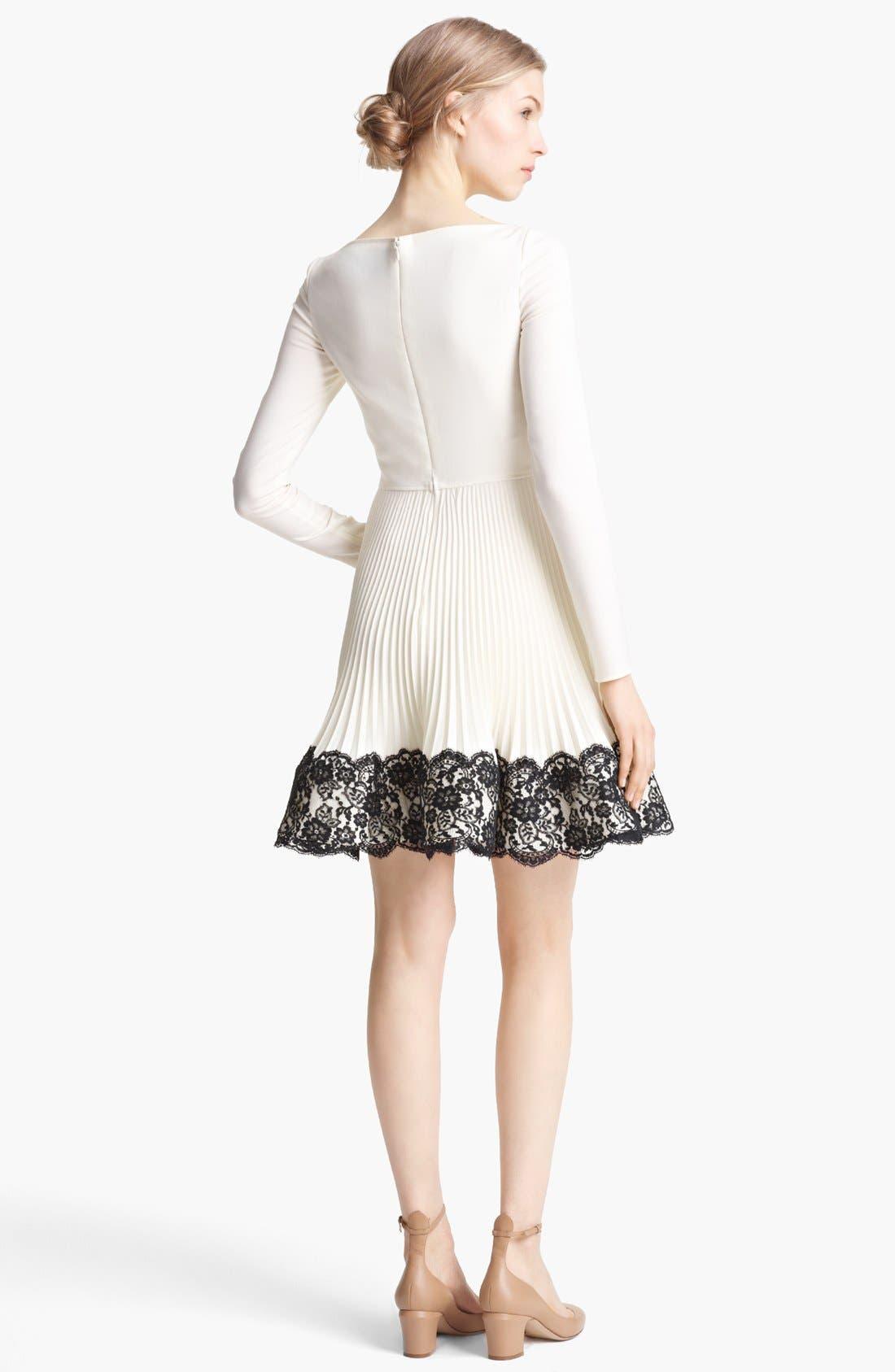 Alternate Image 2  - Valentino Lace Hem Wool Dress