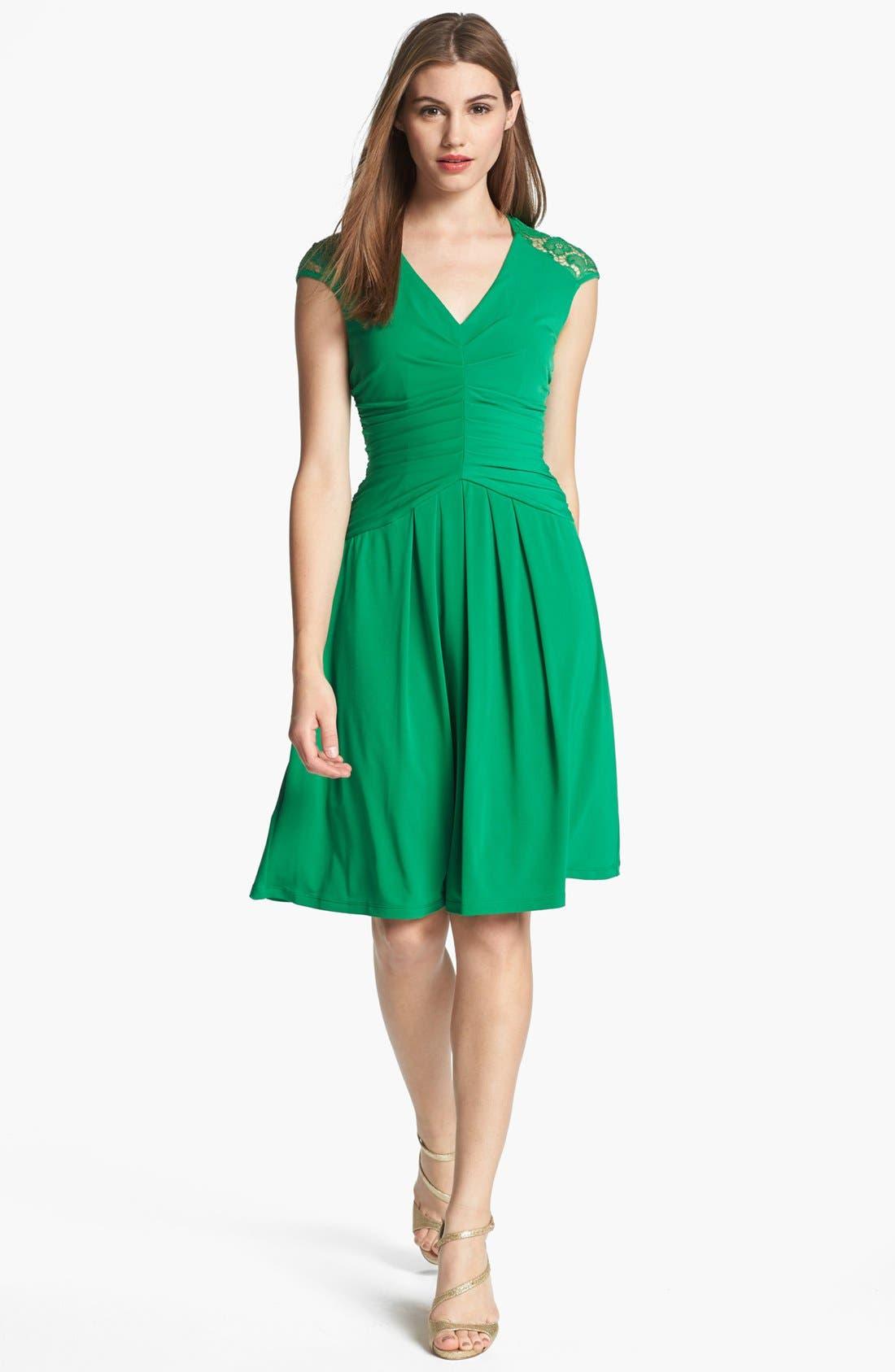 Main Image - Ivy & Blu Lace Back Jersey Dress