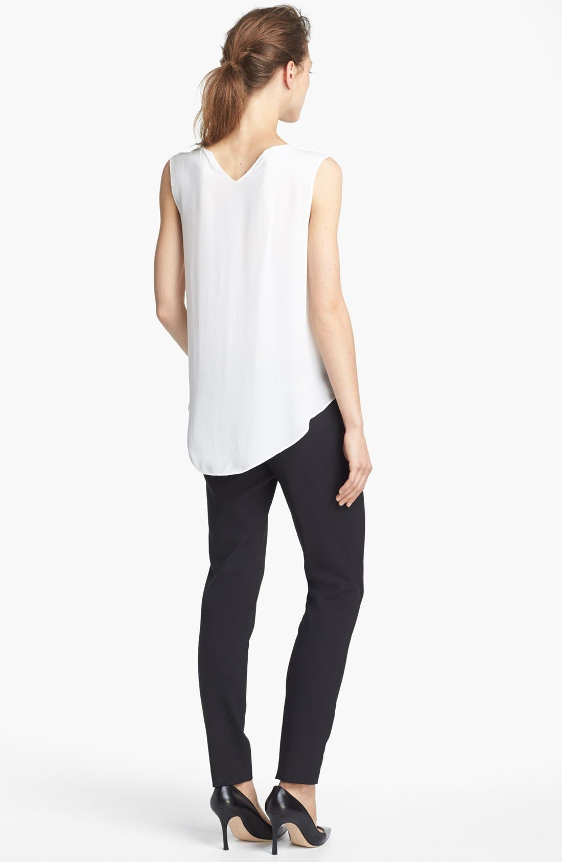 Alternate Image 4  - Theyskens' Theory 'Boomy Faloon' High/Low Silk Top