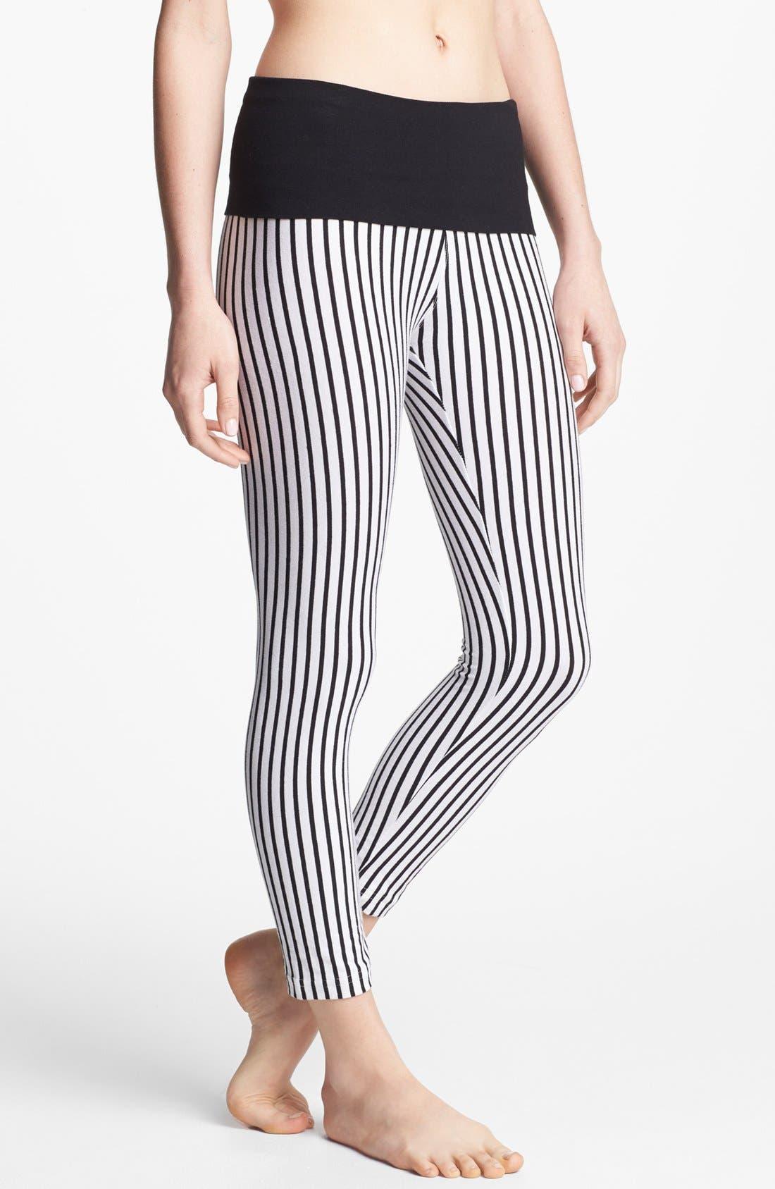Alternate Image 1 Selected - Hard Tail Vertical Stripe Leggings (Online Only)