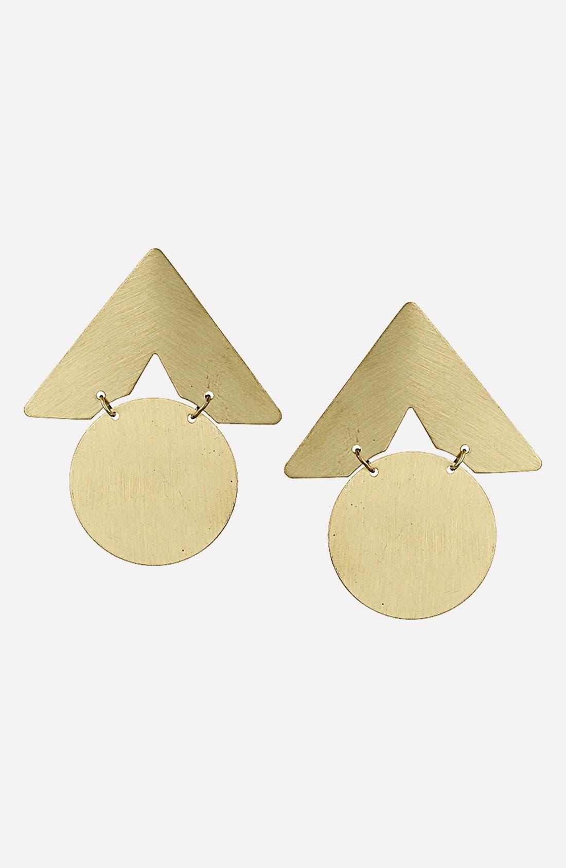 Main Image - Topshop 'Circle Arrow' Stud Earrings