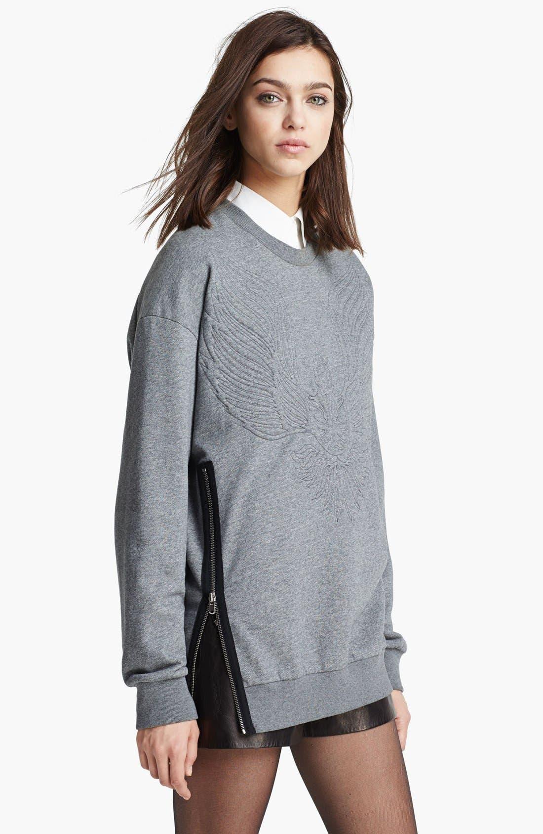 Alternate Image 3  - 3.1 Phillip Lim Quilted Phoenix Oversized Sweatshirt