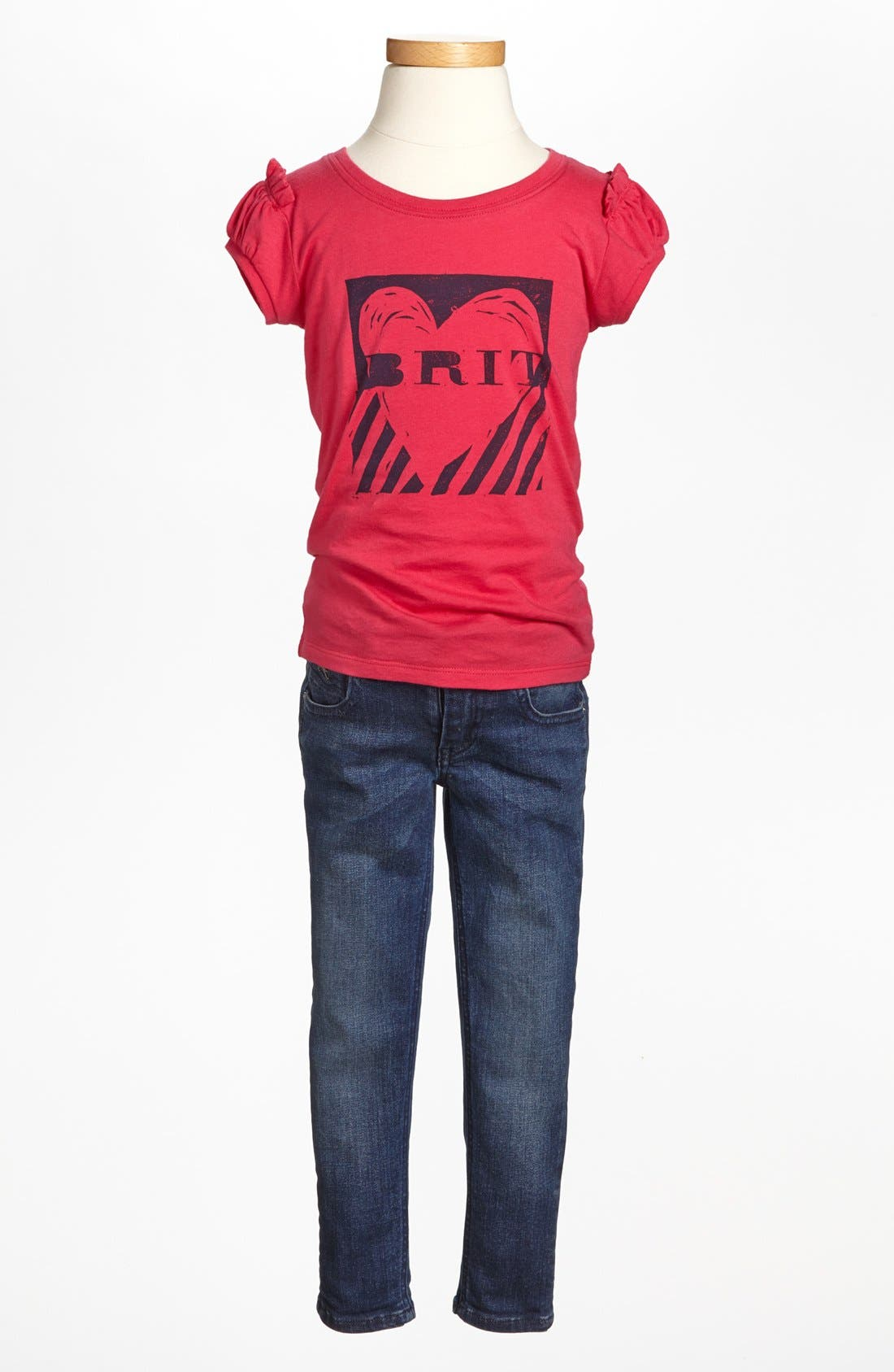 Alternate Image 2  - Burberry Tee & Pants (Little Girls & Big Girls)