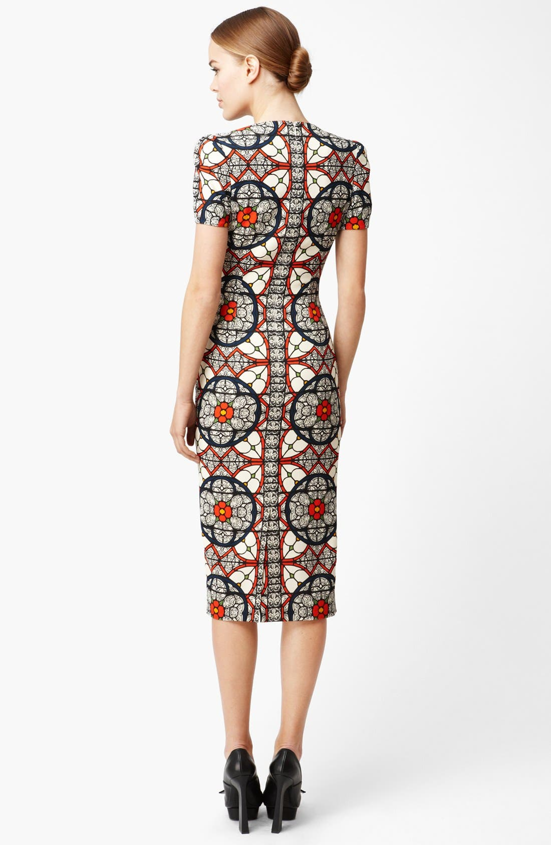 Alternate Image 2  - Alexander McQueen Stained Glass Print Wool Crepe Dress