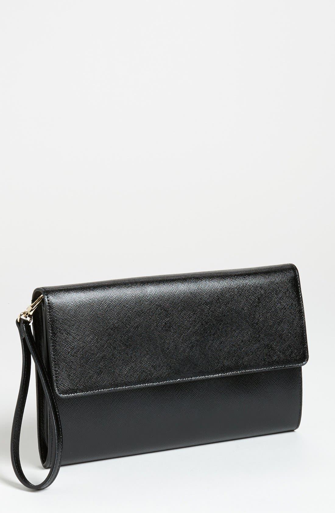 Alternate Image 1 Selected - Halogen® Saffiano Leather Clutch