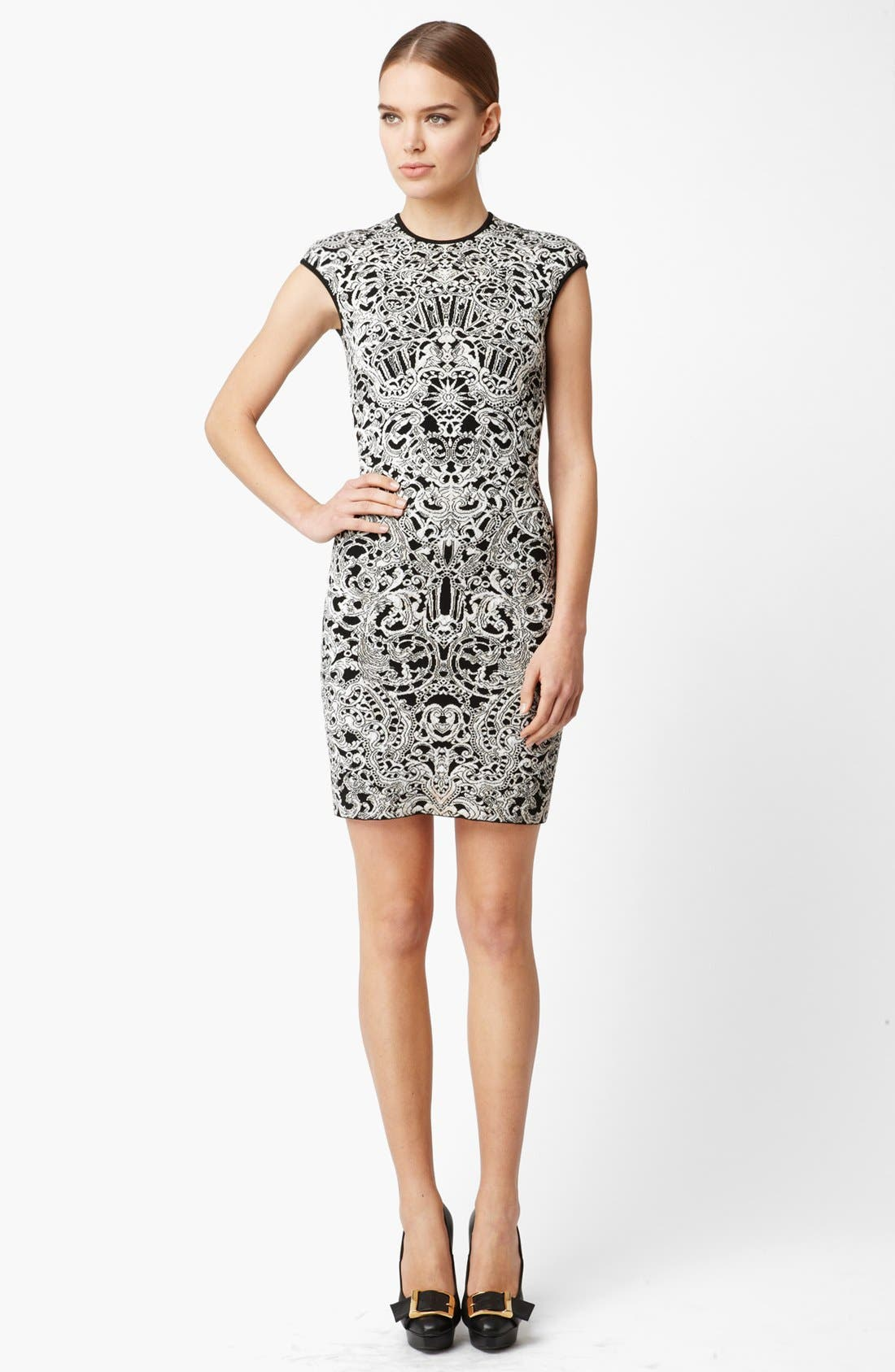 Alternate Image 1 Selected - Alexander McQueen Intarsia Knit Dress