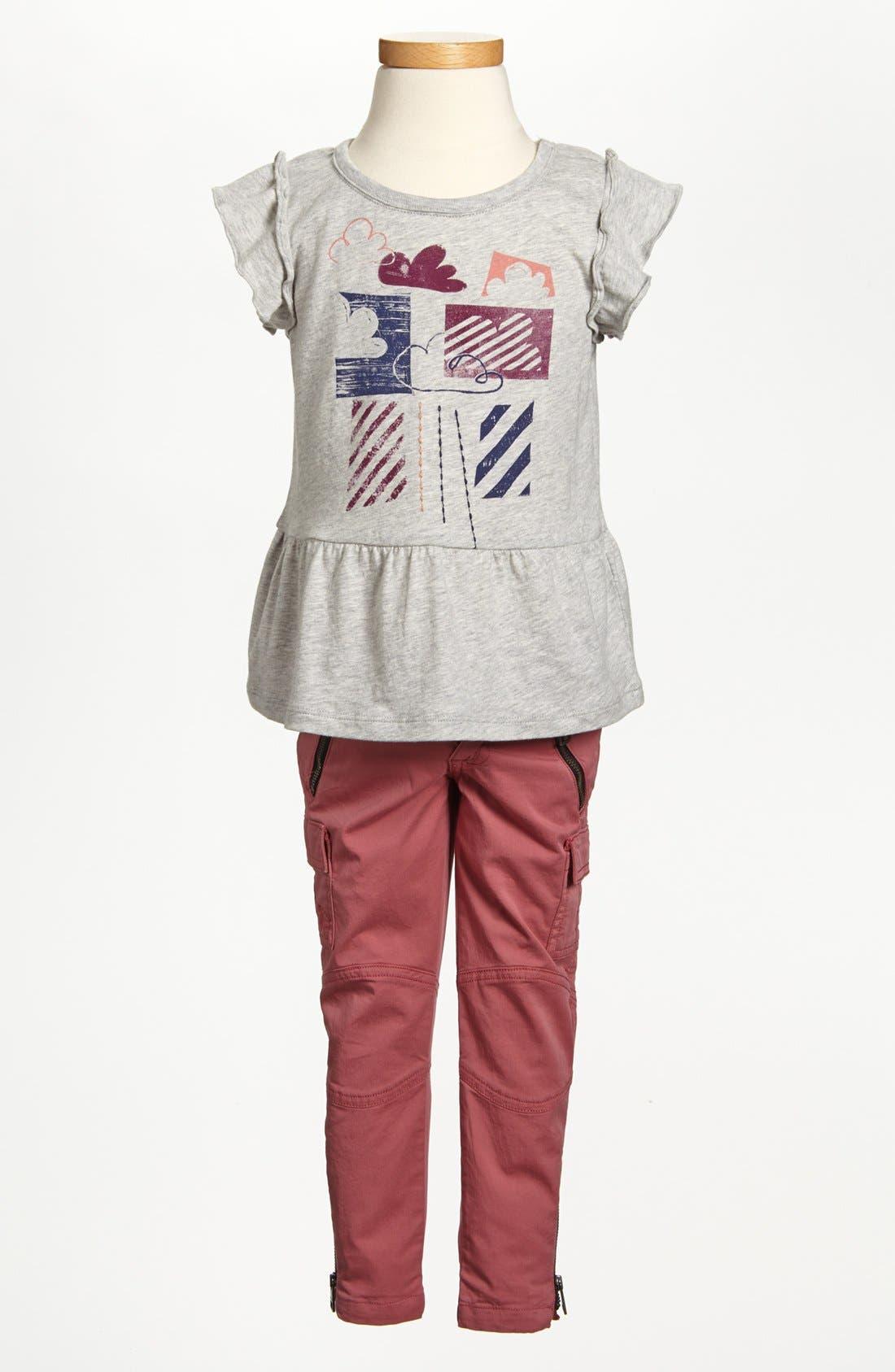 Alternate Image 2  - Burberry Ruffle Top & Cargo Pants (Little Girls & Big Girls)