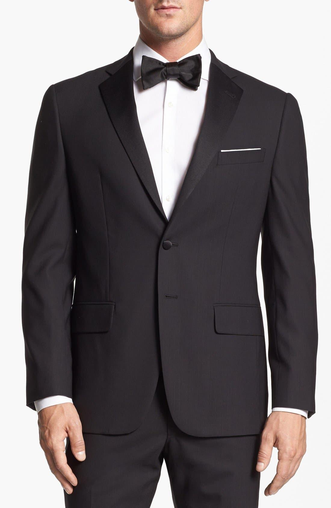 Alternate Image 4  - Joseph Abboud 'Profile Hybrid' Trim Fit Wool Tuxedo (Online Only)