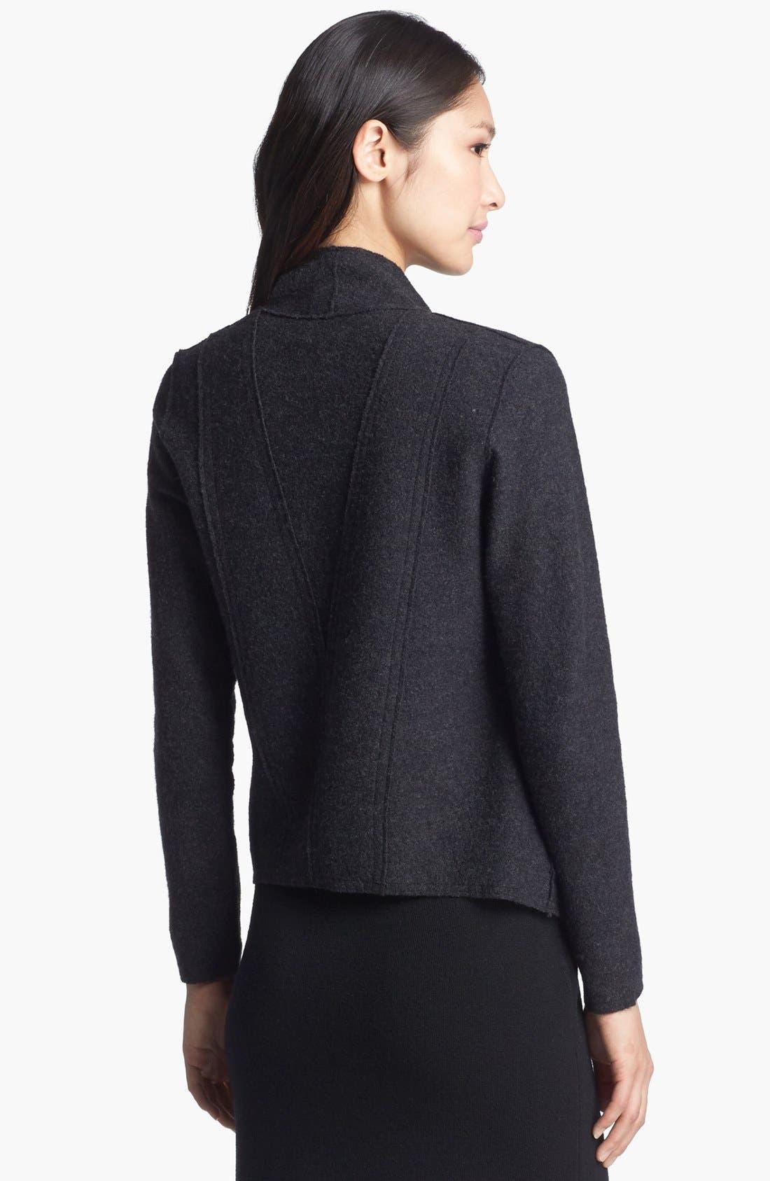 Alternate Image 2  - Eileen Fisher Lightweight Boiled Wool Jacket (Regular & Petite)