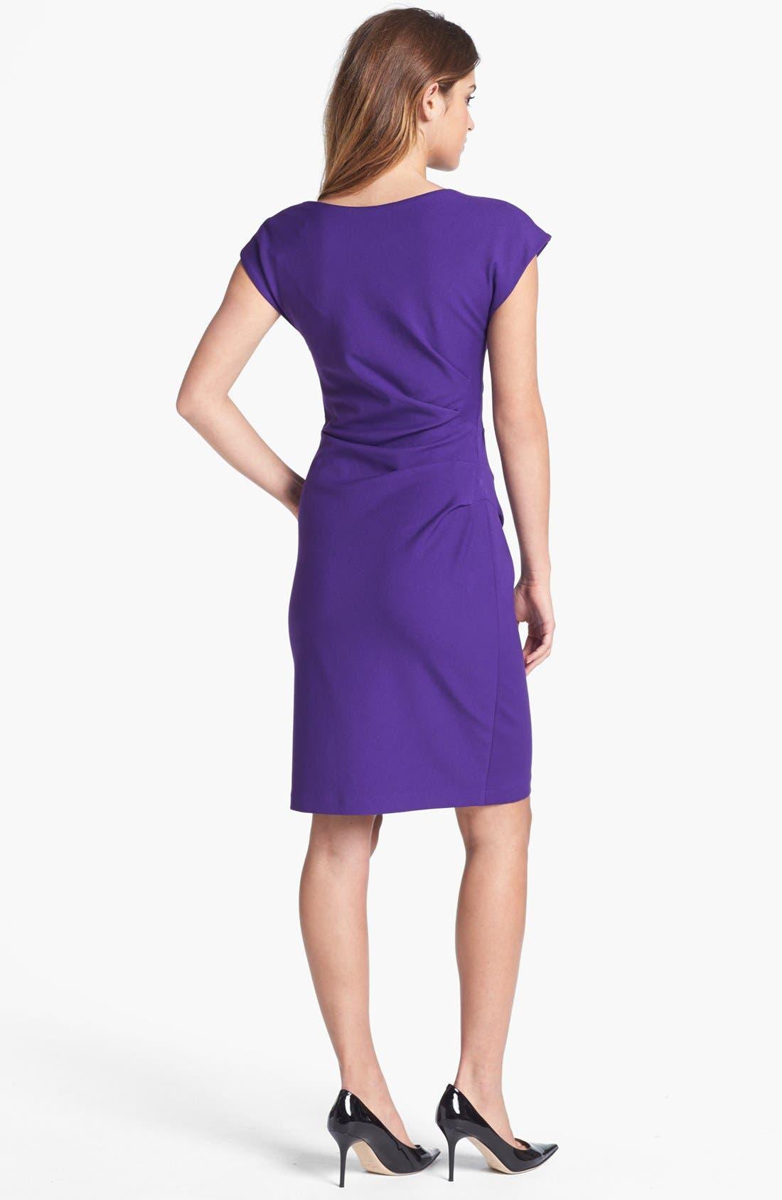 Alternate Image 2  - Ivy & Blu Cowl Neck Sheath Dress