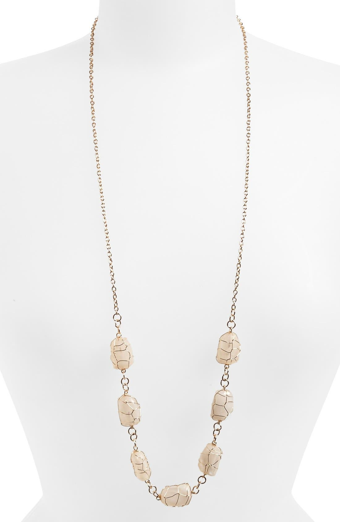 Alternate Image 1 Selected - South Sun Long Layering Necklace (Juniors)