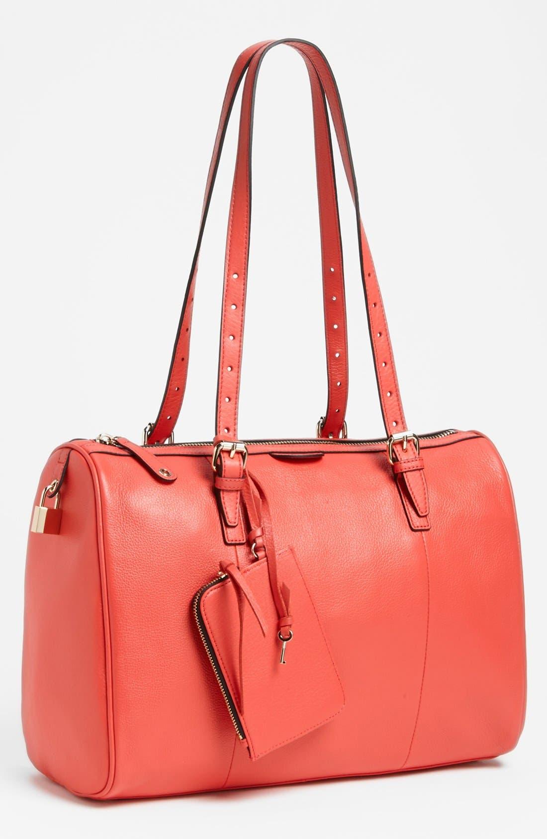 Main Image - Halogen® Leather Satchel
