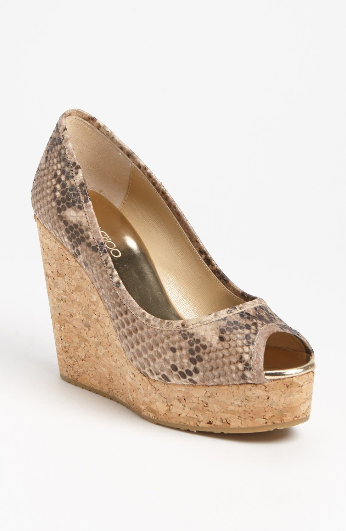 Alternate Image 1 Selected - Jimmy Choo 'Papina' Cork Wedge Pump