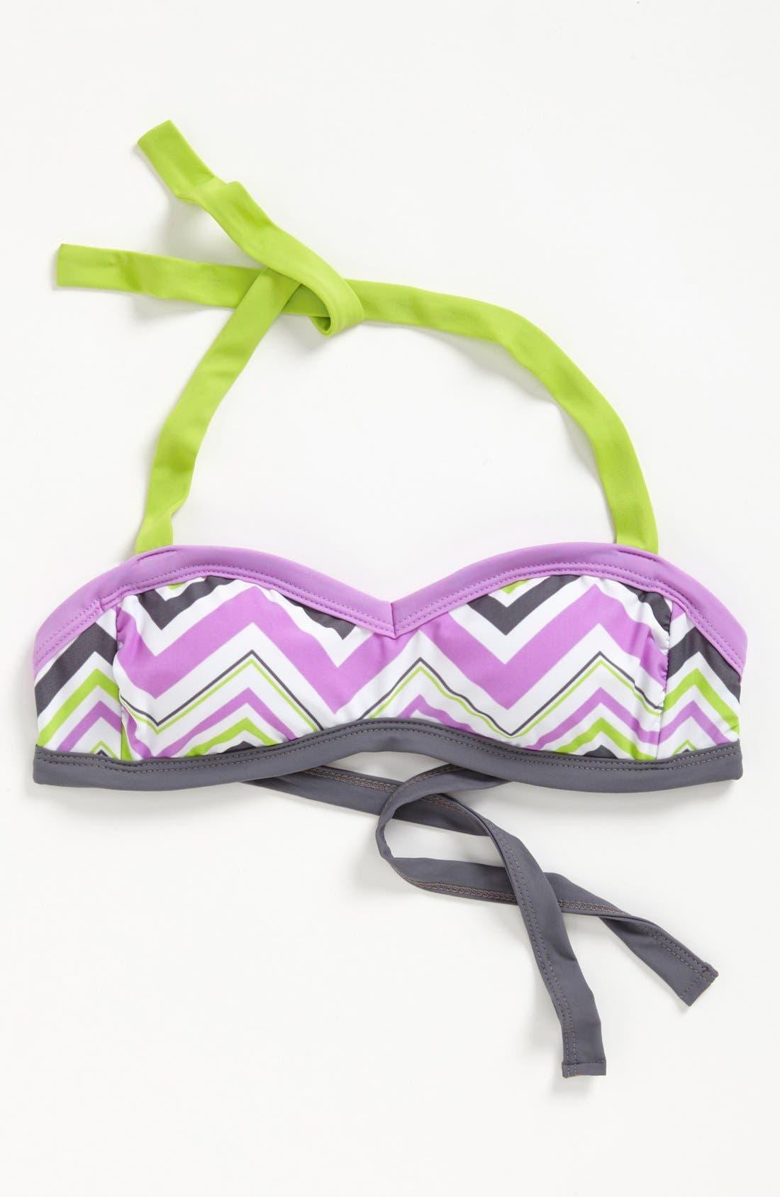 Main Image - BCA Chevron Stripe Bandeau Bikini Top