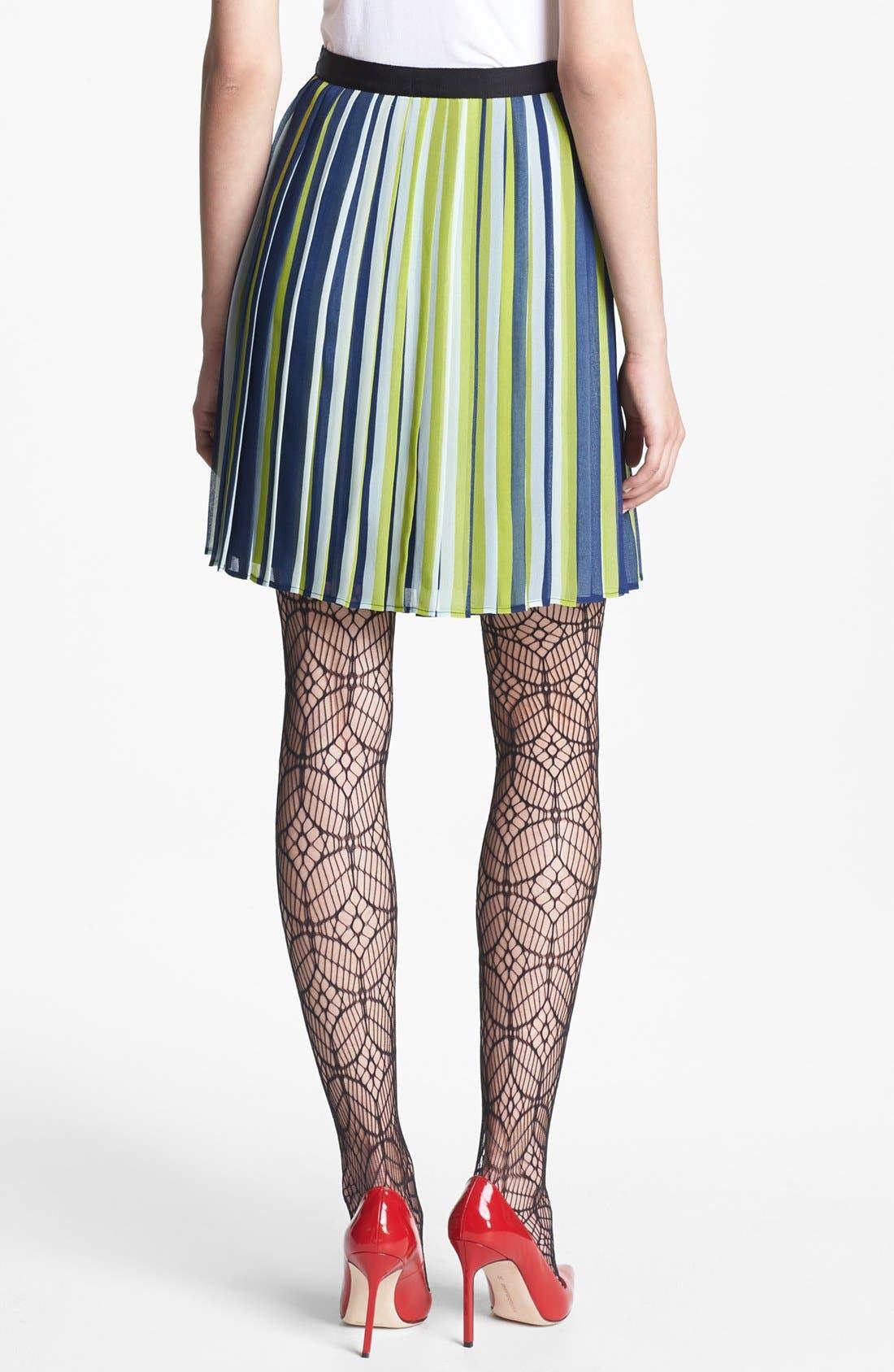 Alternate Image 2  - Miss Wu Stripe Pleated Chiffon Skirt (Nordstrom Exclusive)