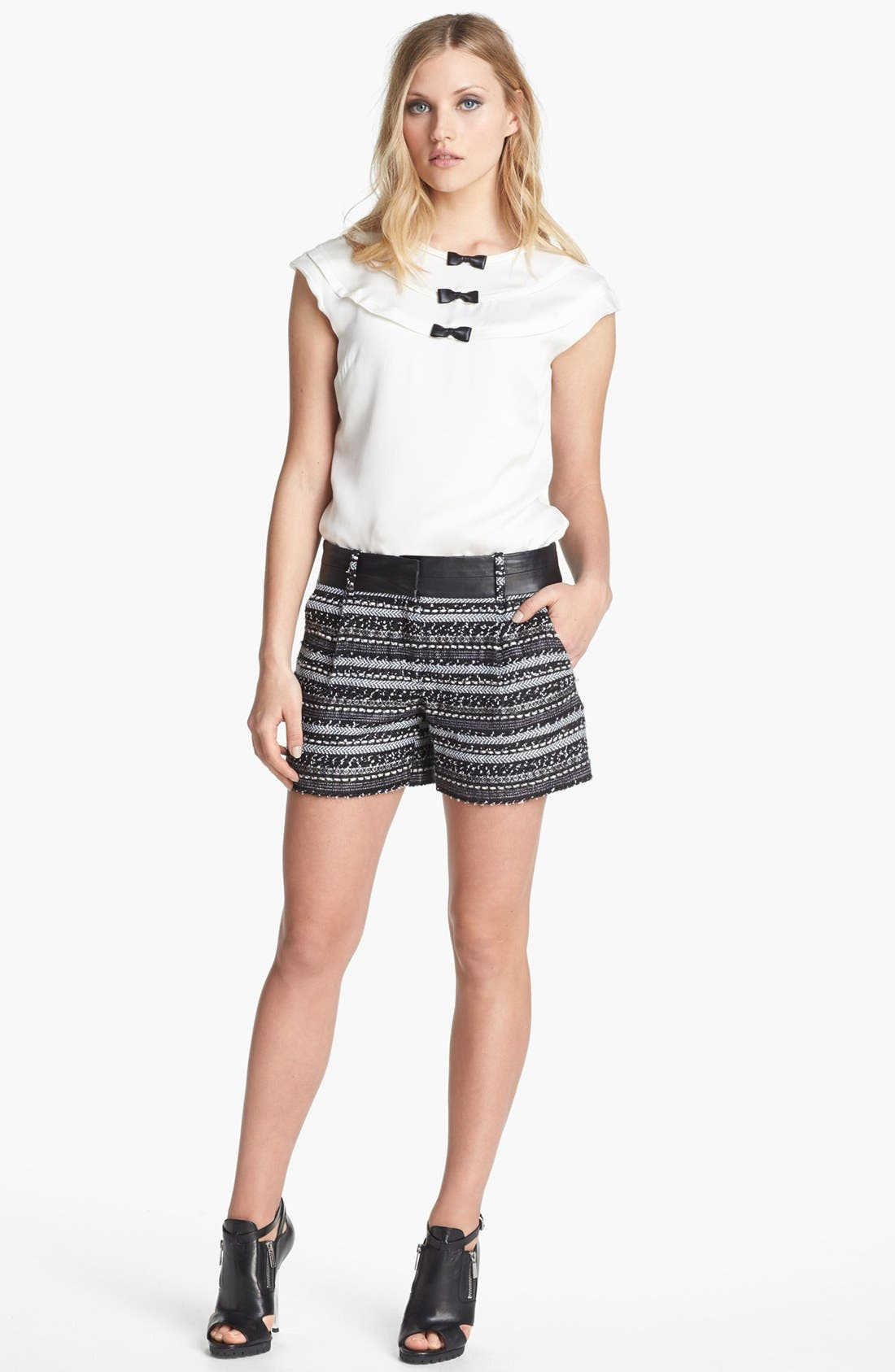 Alternate Image 4  - Milly 'Malhia Couture' Tweed & Leather Shorts