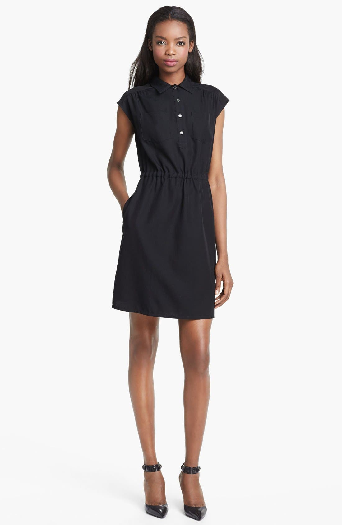 Alternate Image 1 Selected - A.P.C. Henley Dress