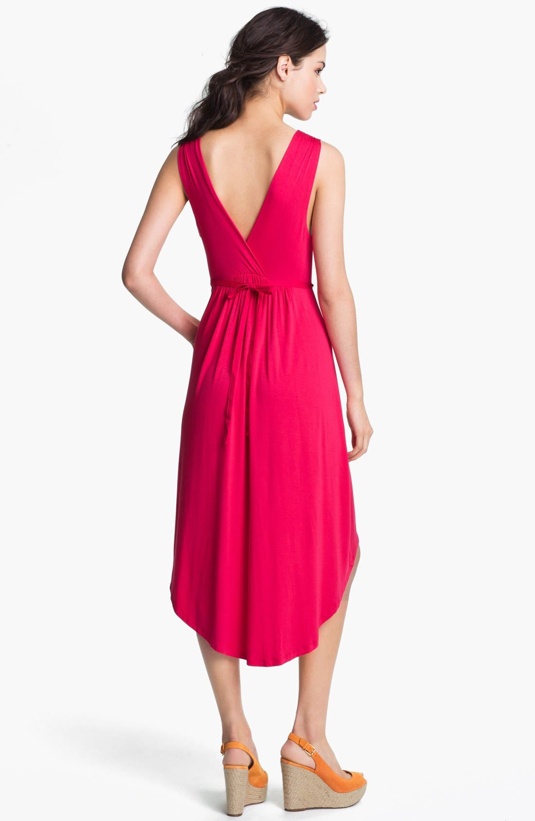 Alternate Image 2  - Felicity & Coco Pleated High/Low Dress (Petite) (Nordstrom Exclusive)