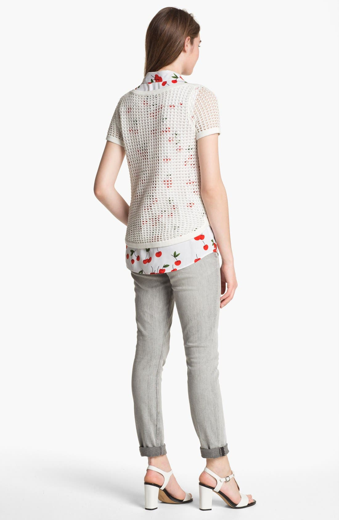 Alternate Image 5  - Two by Vince Camuto Print Sleeveless Shirt