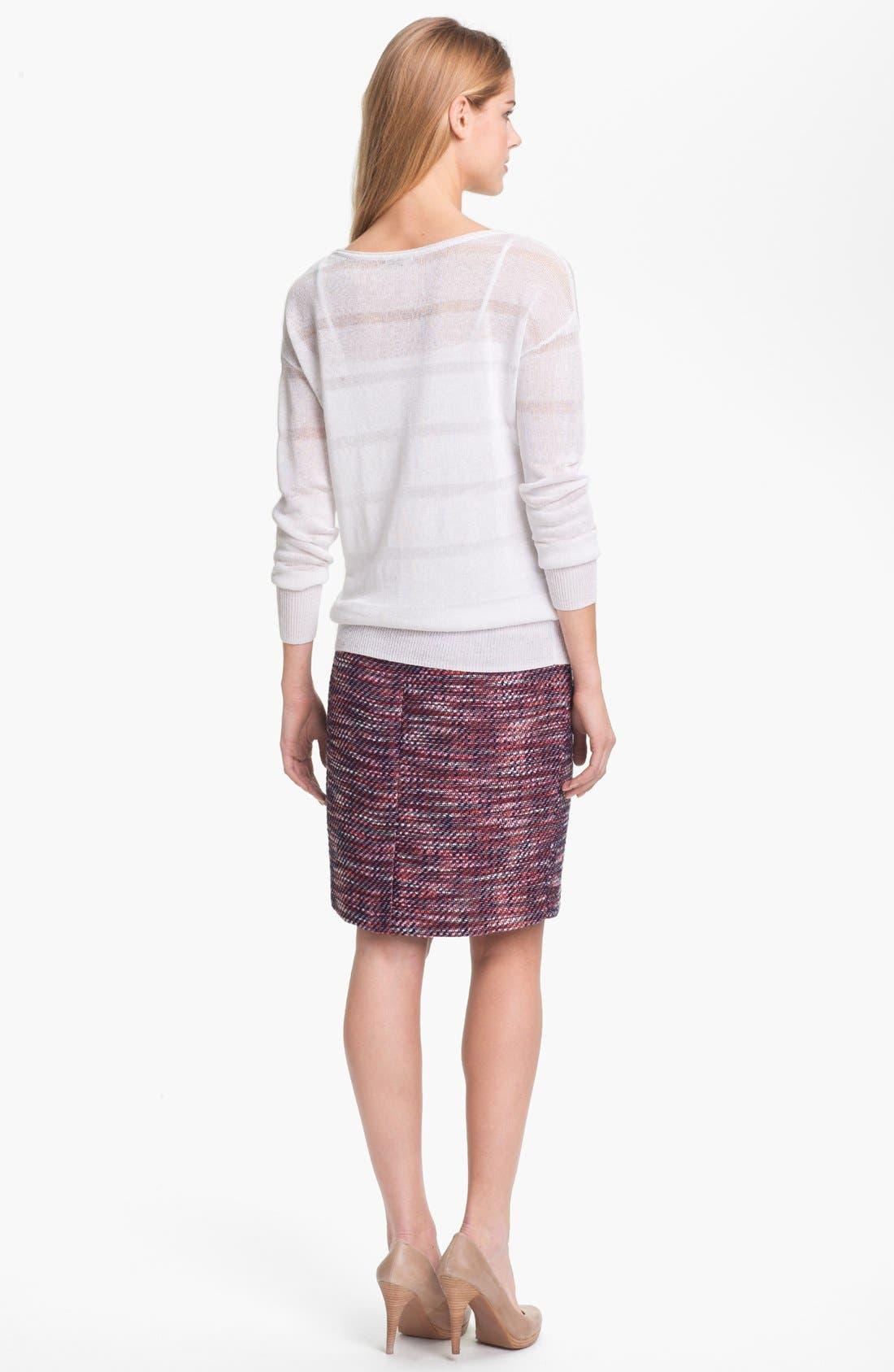 Alternate Image 5  - Halogen® Tweed Pencil Skirt (Petite)
