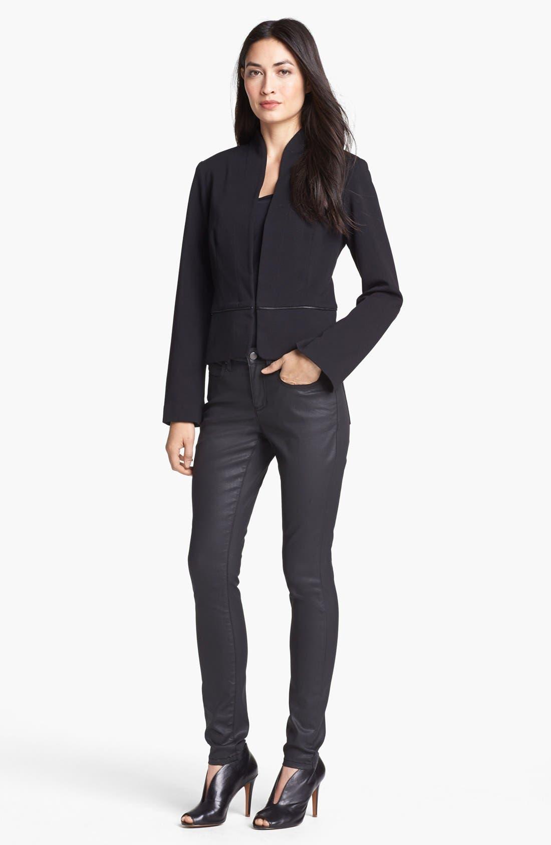 Alternate Image 5  - Eileen Fisher Waxed Denim Skinny Jeans