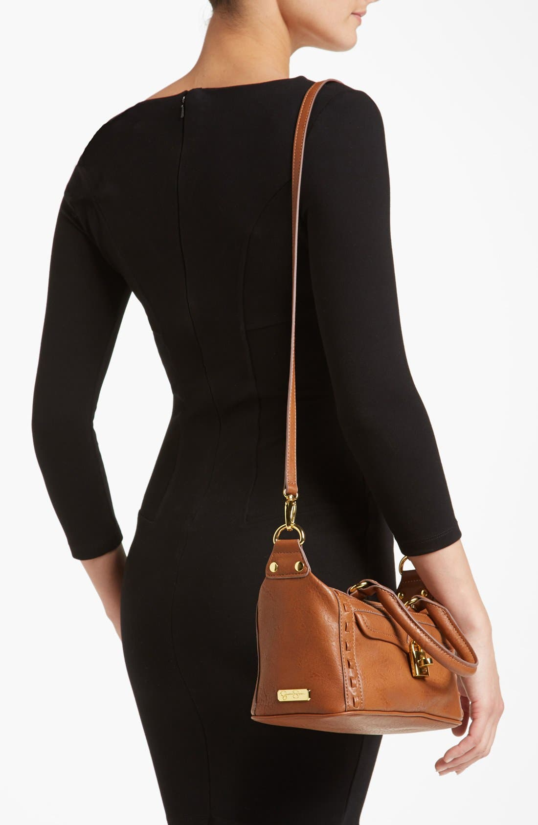 Alternate Image 2  - Jessica Simpson 'Madison - Mini' Faux Leather Satchel