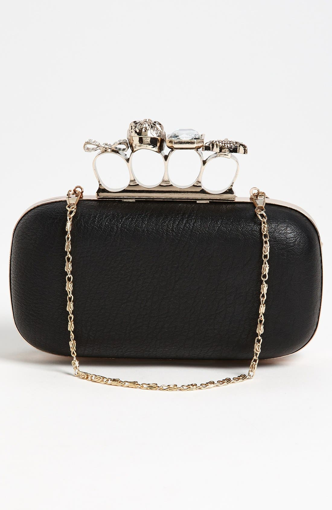 Alternate Image 4  - Natasha Couture 'Finger' Studded Clutch