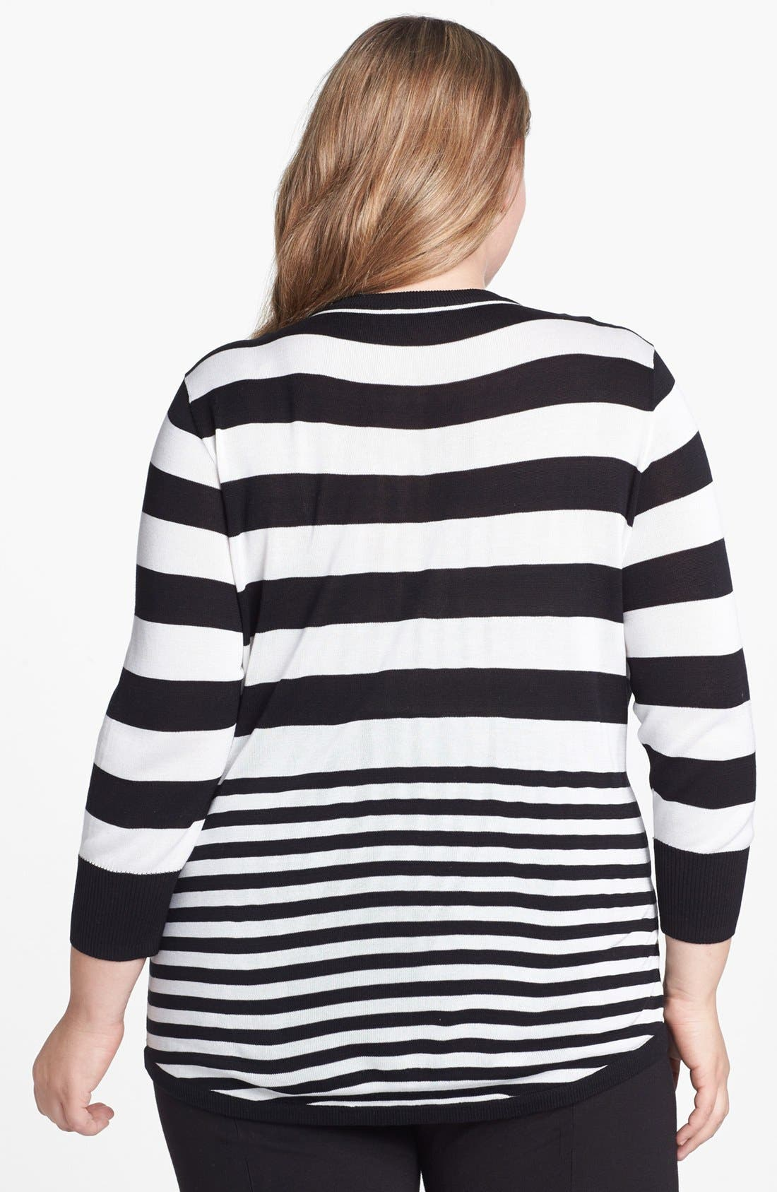 Alternate Image 2  - Vince Camuto Stripe Pullover (Plus Size)