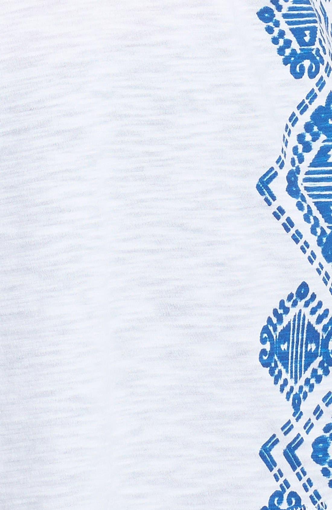 Alternate Image 3  - Lucky Brand Screenprint Tee (Plus Size)