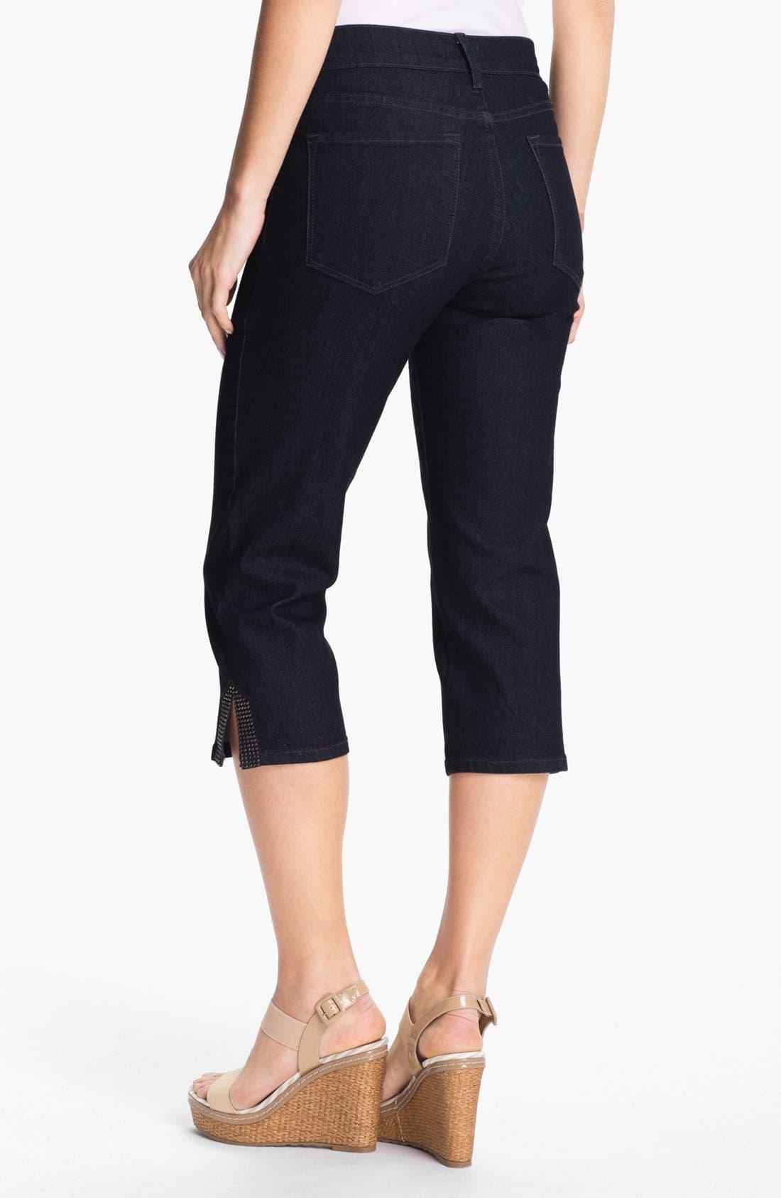 Alternate Image 2  - NYDJ 'Suzy' Embellished Crop Jeans (Plus Size)