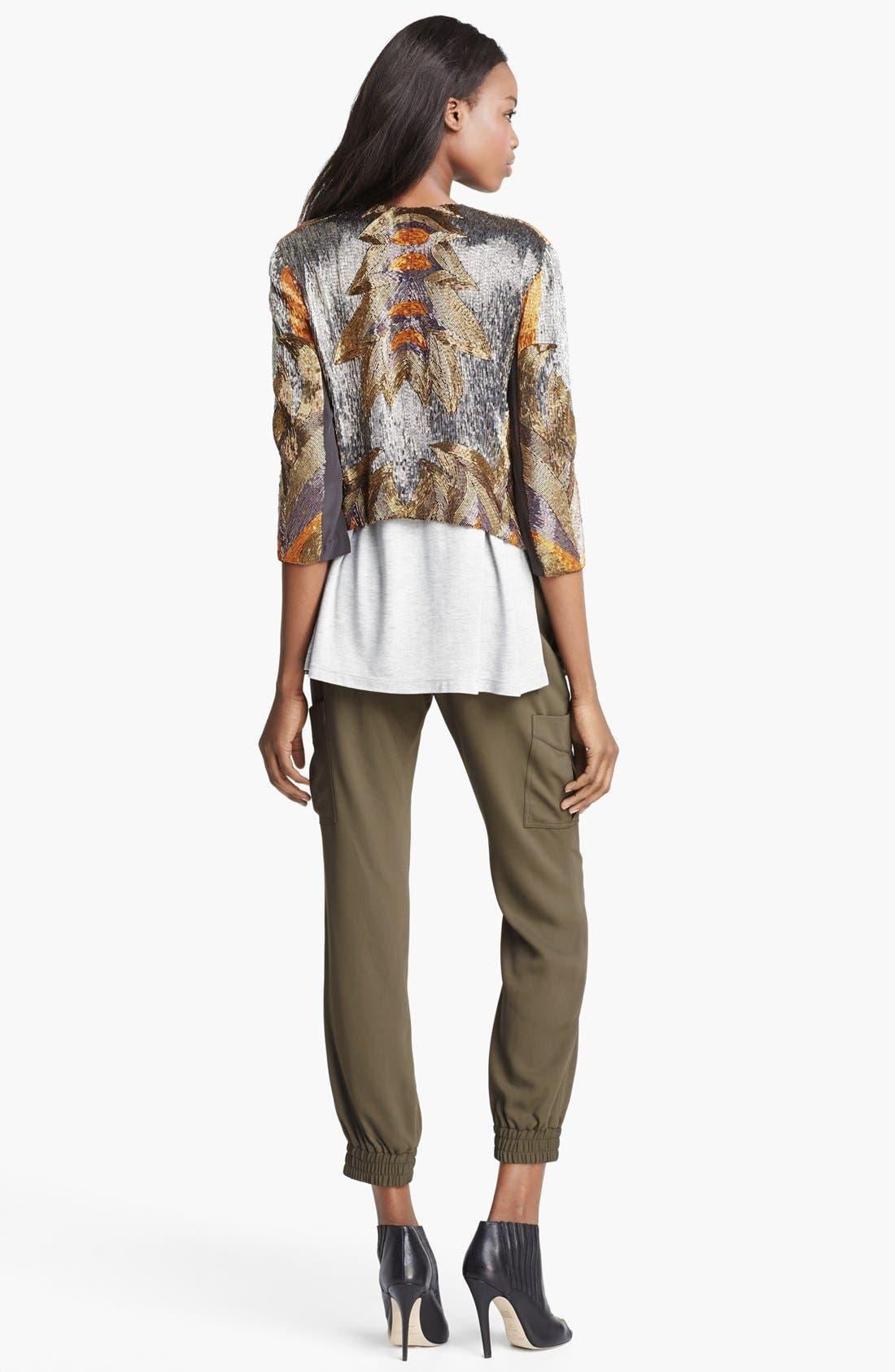 Alternate Image 5  - Haute Hippie 'Fire' Bead Embellished Silk Jacket