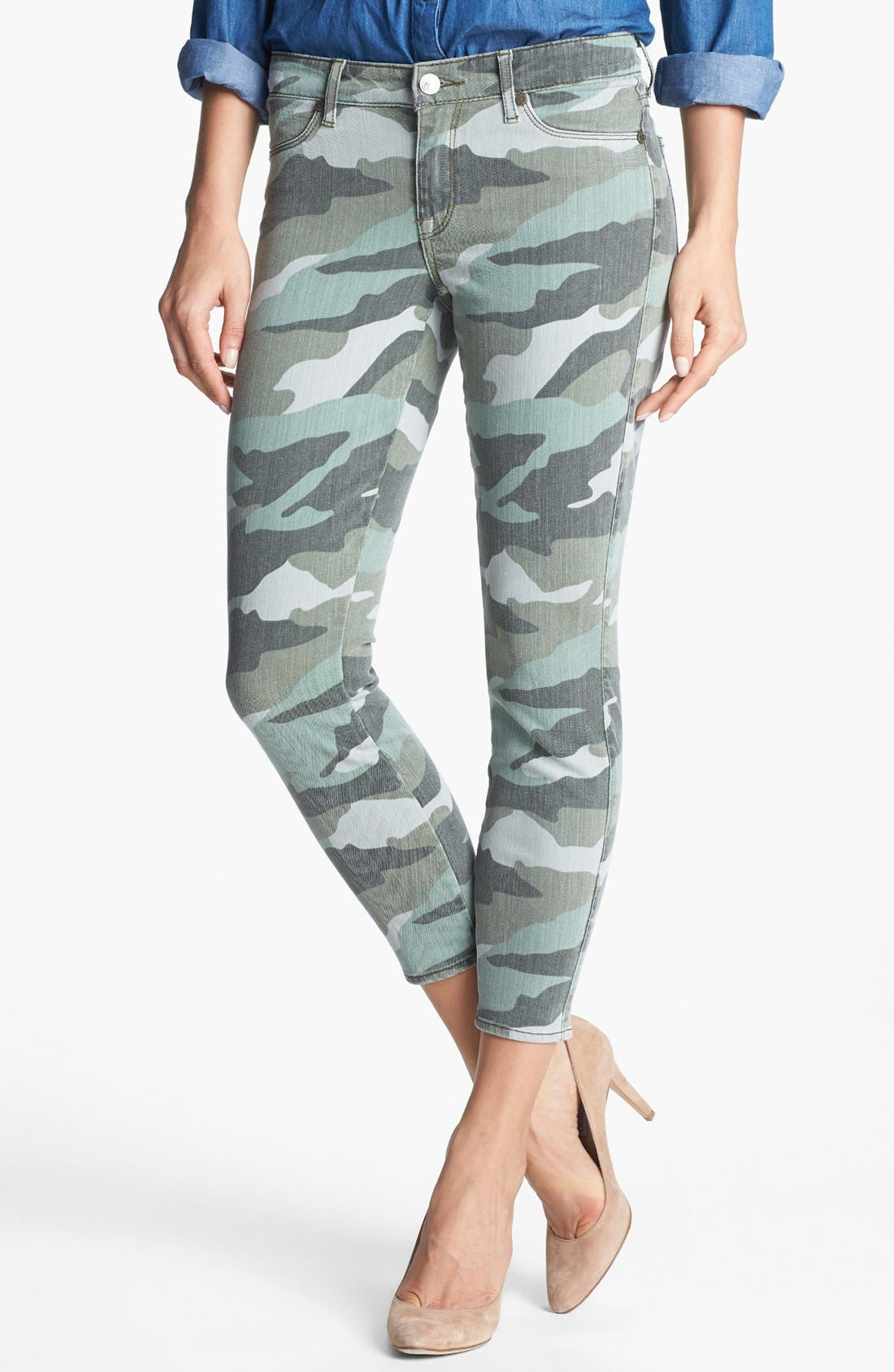 Main Image - CJ by Cookie Johnson 'Believe' Camo Crop Stretch Jeans