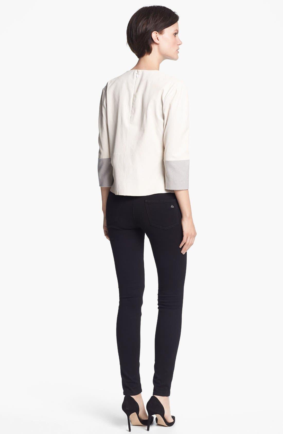 Alternate Image 2  - J Brand Ready-to-Wear 'Anya' Leather Shirt