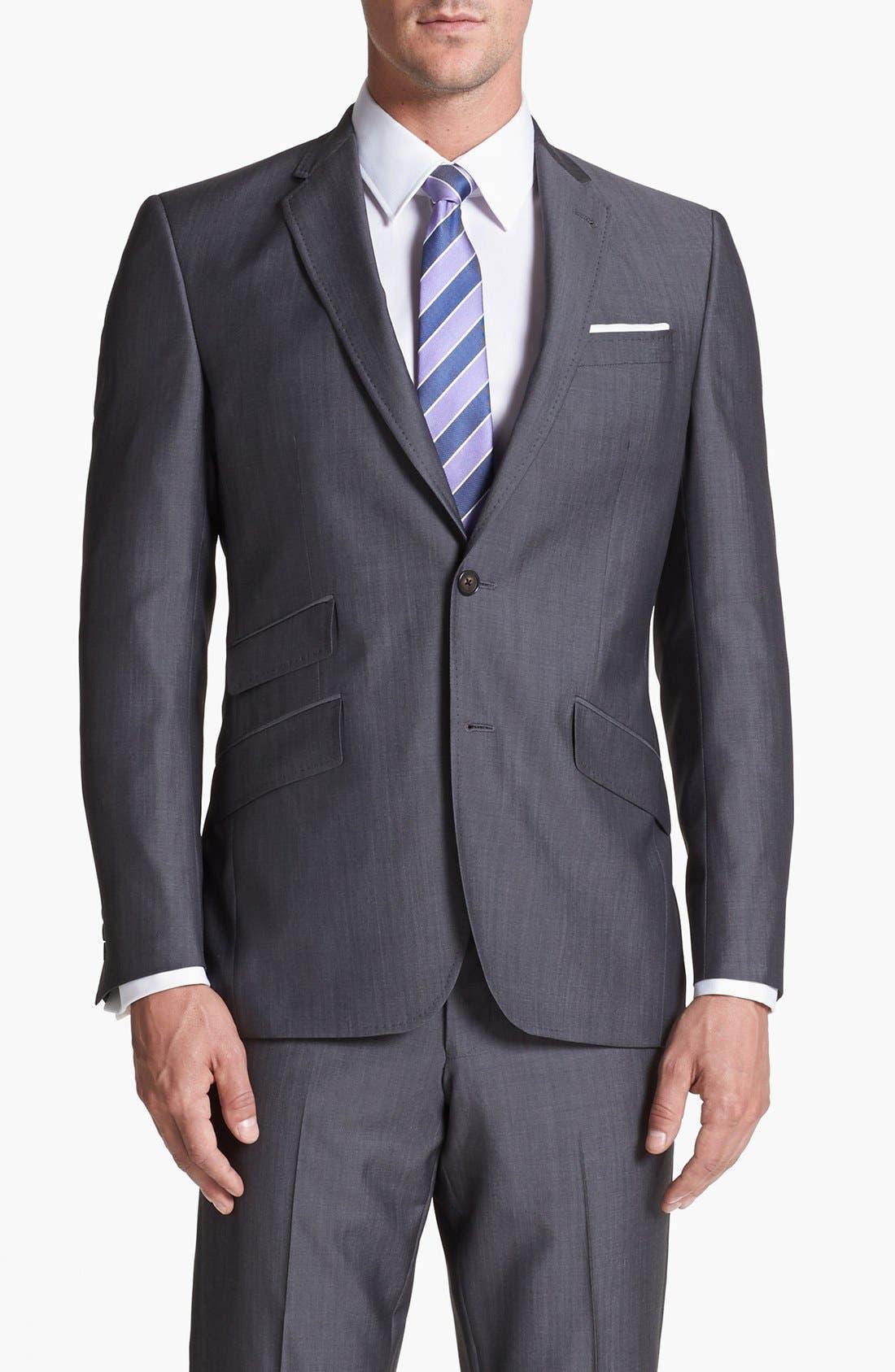 Alternate Image 4  - Ted Baker London 'Jim' Grey Wool Suit