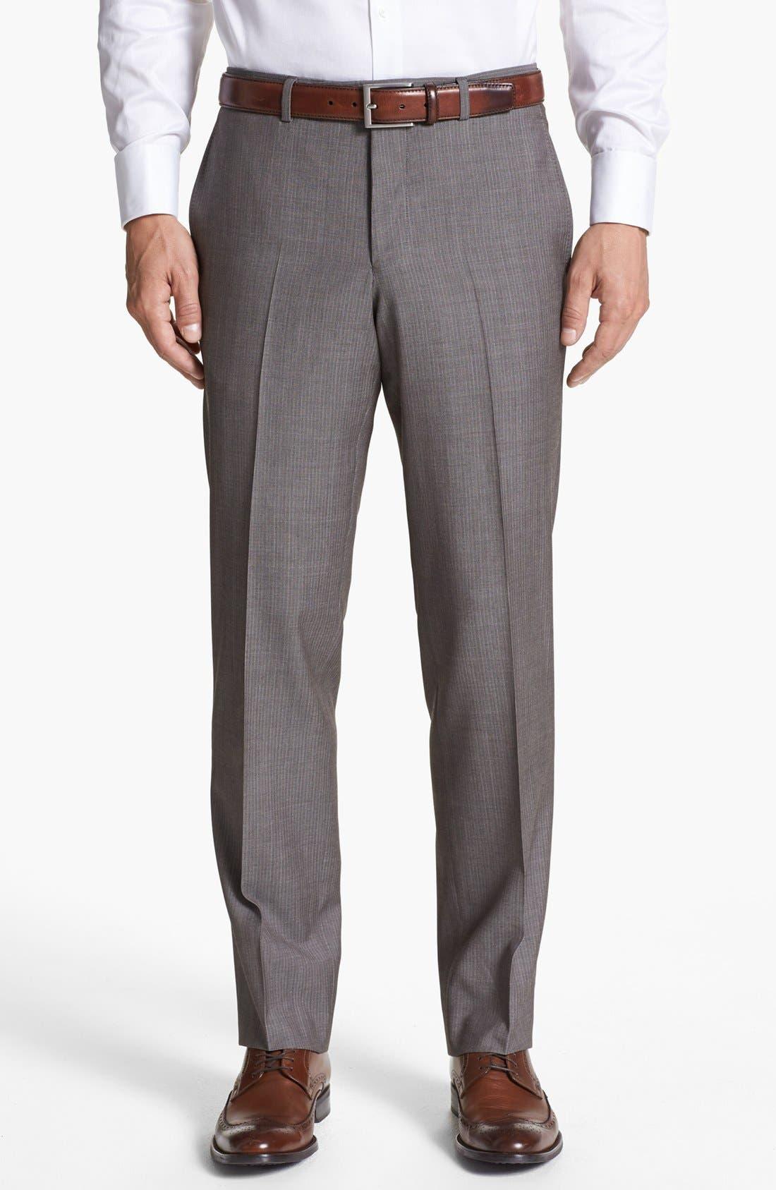 Alternate Image 5  - Ted Baker London 'Jim' Tan Herringbone Wool Suit