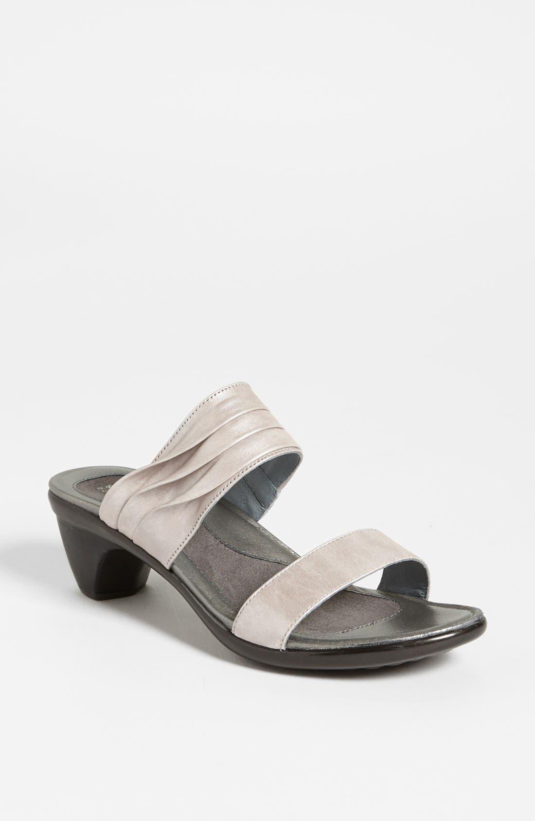 'Isis' Sandal,                         Main,                         color, Quartz Leather