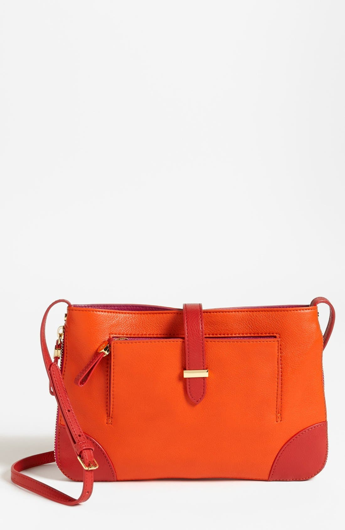 Main Image - Tory Burch 'Clay' Leather Crossbody Bag