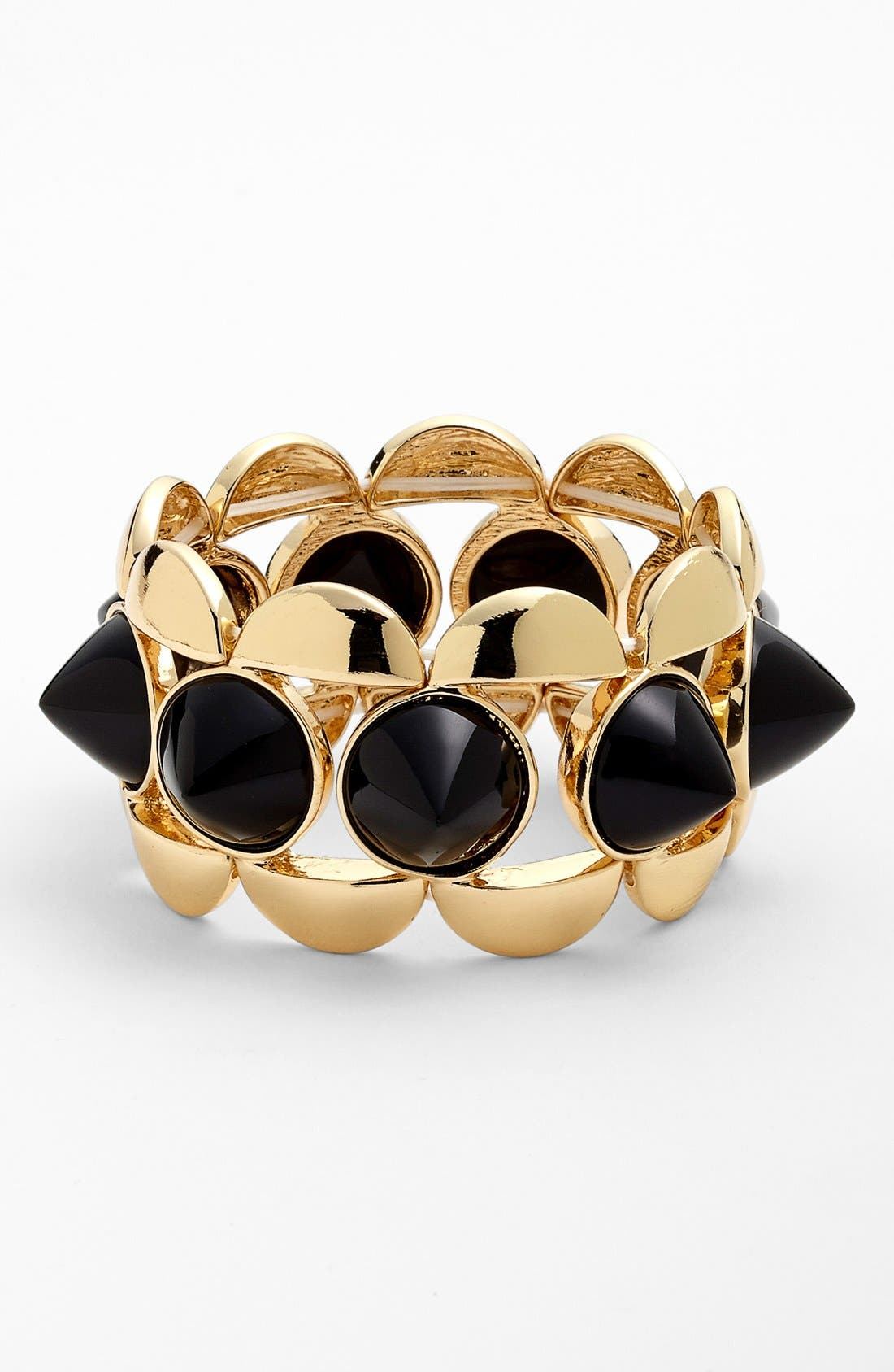 Main Image - Natasha Couture Goldtone Spike Stretch Bracelet